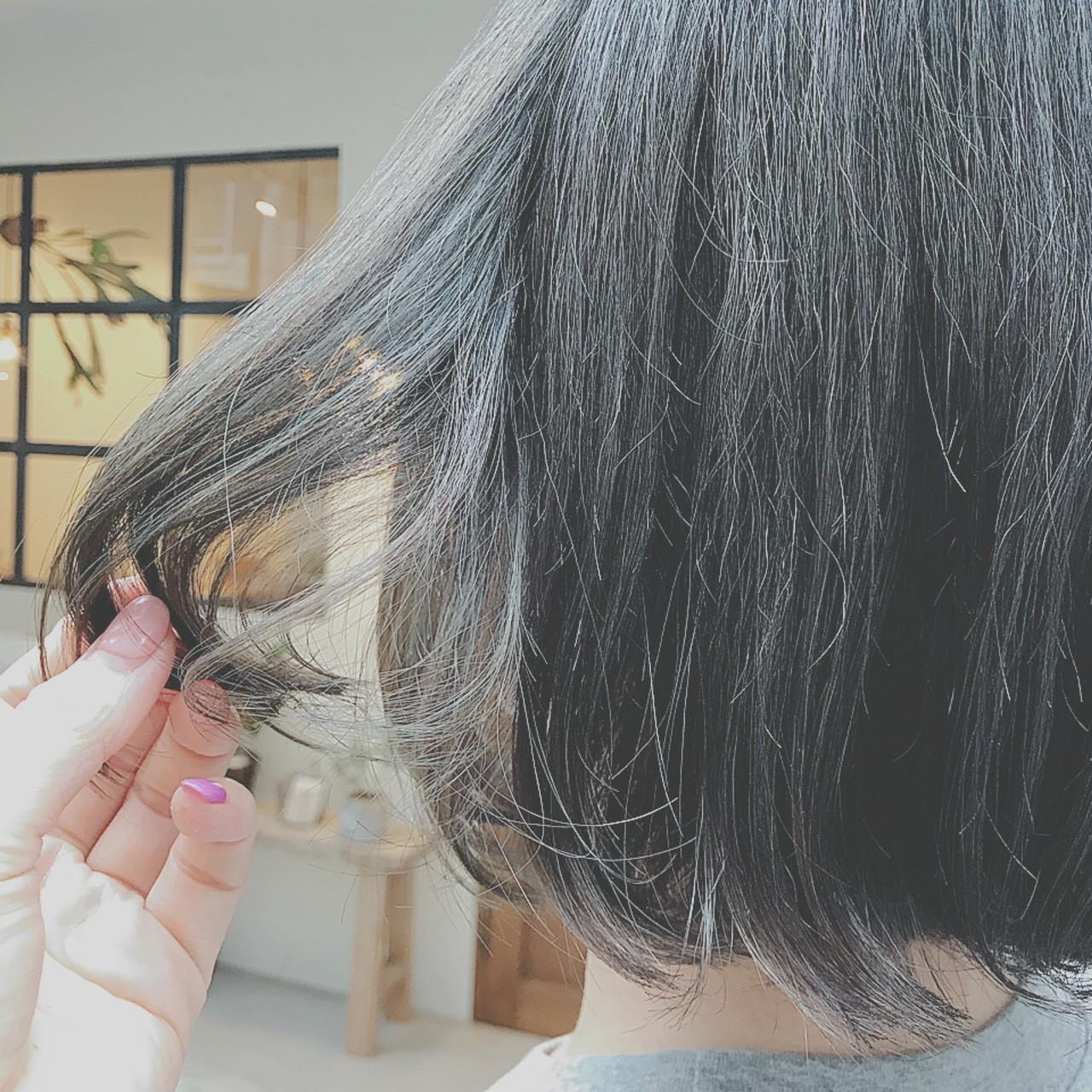 ナチュラル デート 大人かわいい ボブ ヘアスタイルや髪型の写真・画像 | 浦川由起江 / nanon