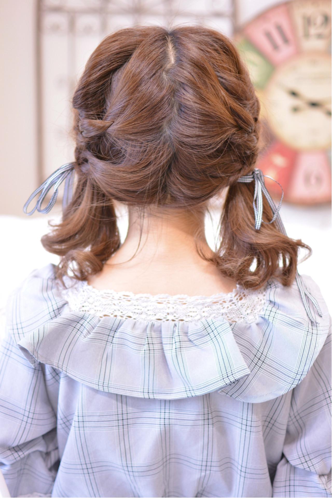 ガーリー ゆるふわ 透明感 ミディアムヘアスタイルや髪型の写真・画像