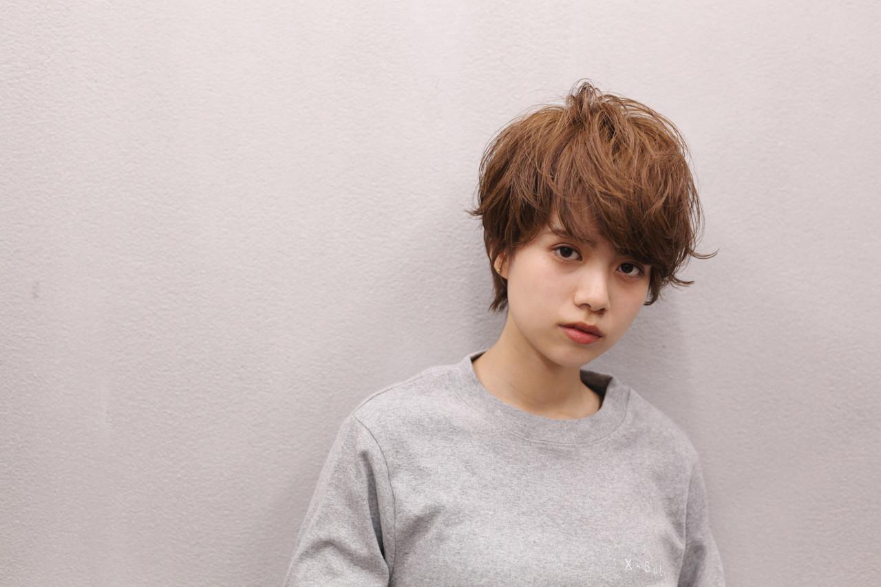 ショートヘア 小顔ショート ナチュラル ショートヘアスタイルや髪型の写真・画像