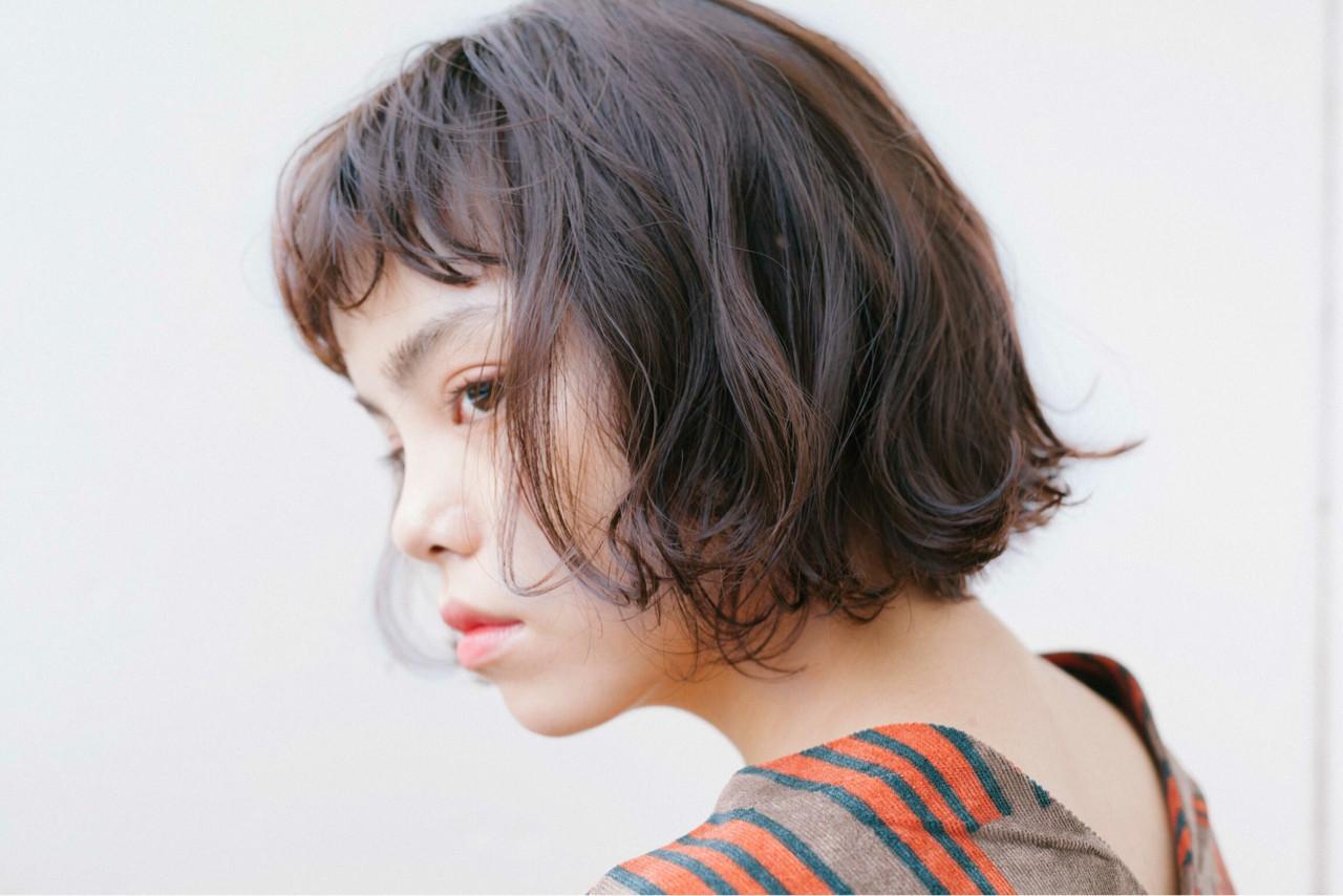 アッシュ パーマ ナチュラル ウェーブ ヘアスタイルや髪型の写真・画像 | 渡辺 フミヤ / Cafune by Garland