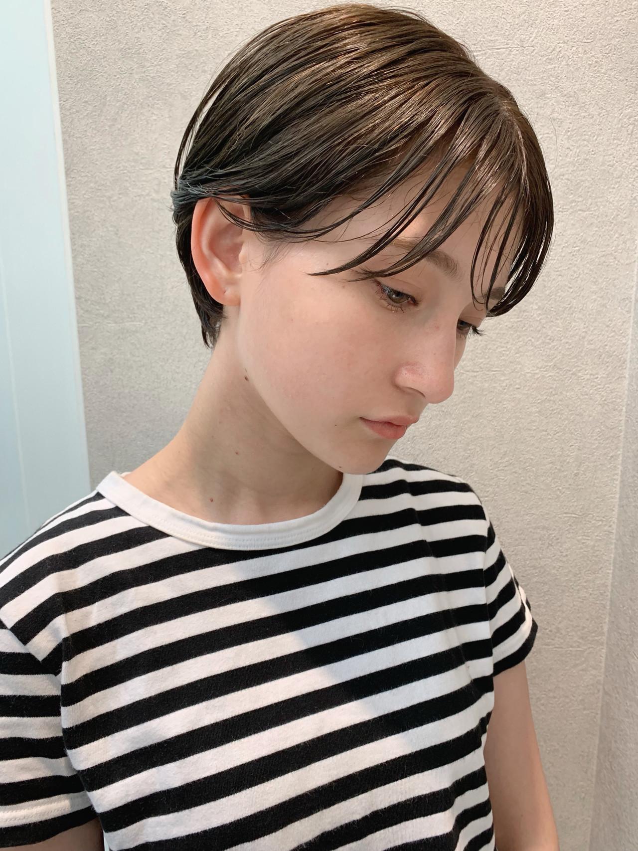 パーマ オフィス 成人式 ショート ヘアスタイルや髪型の写真・画像   石田浩之 / lano by hair
