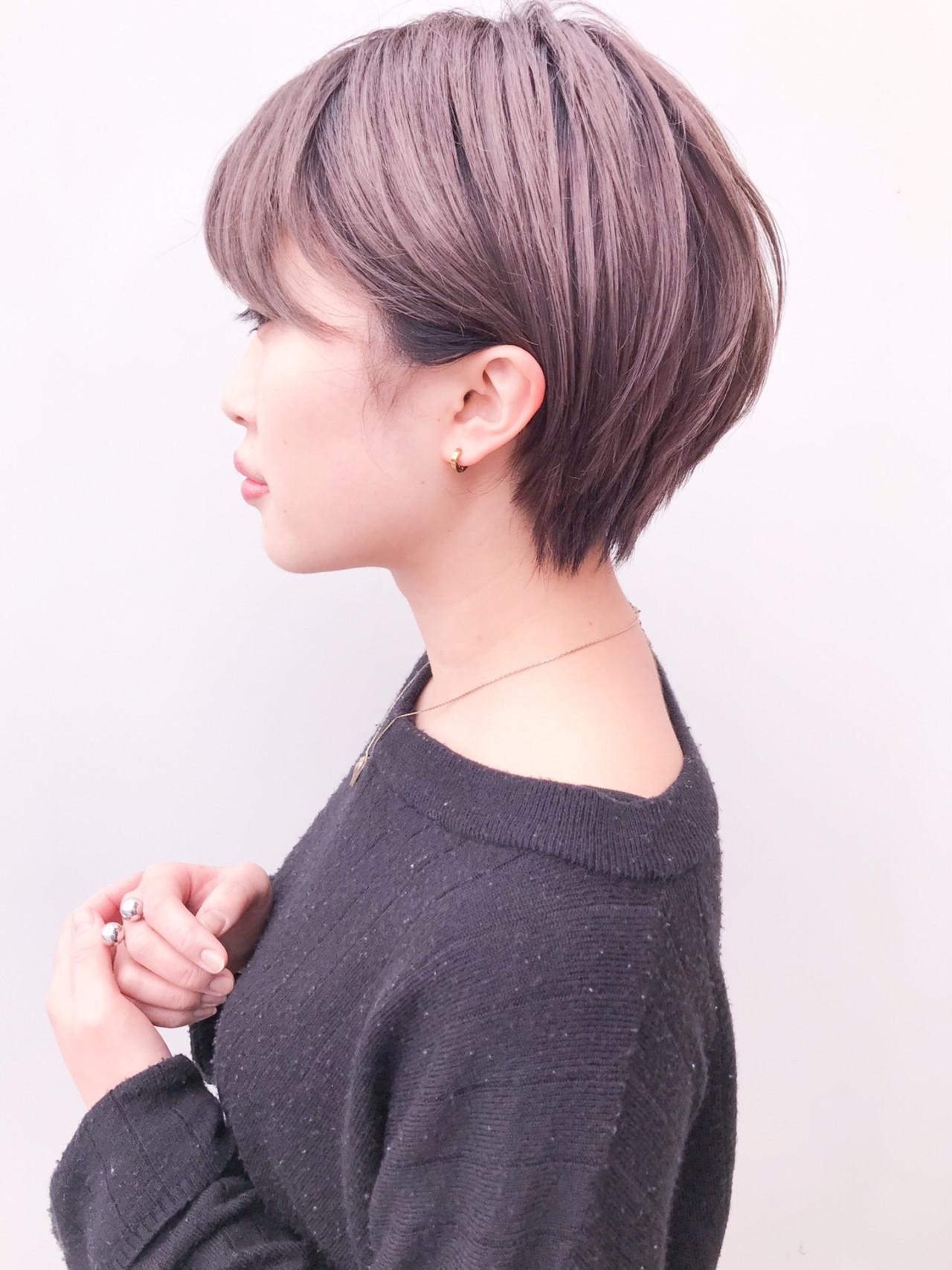 ショート イルミナカラー デート 丸みショート ヘアスタイルや髪型の写真・画像 | HIROKI / roijir / roijir