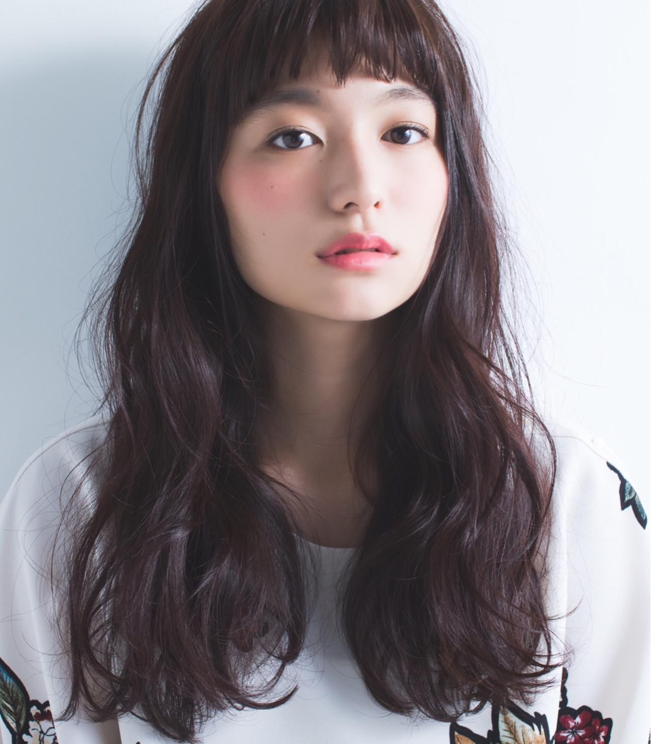 ロング 暗髪 冬 黒髪 ヘアスタイルや髪型の写真・画像 | 小林 完/K I L L A / KILLA