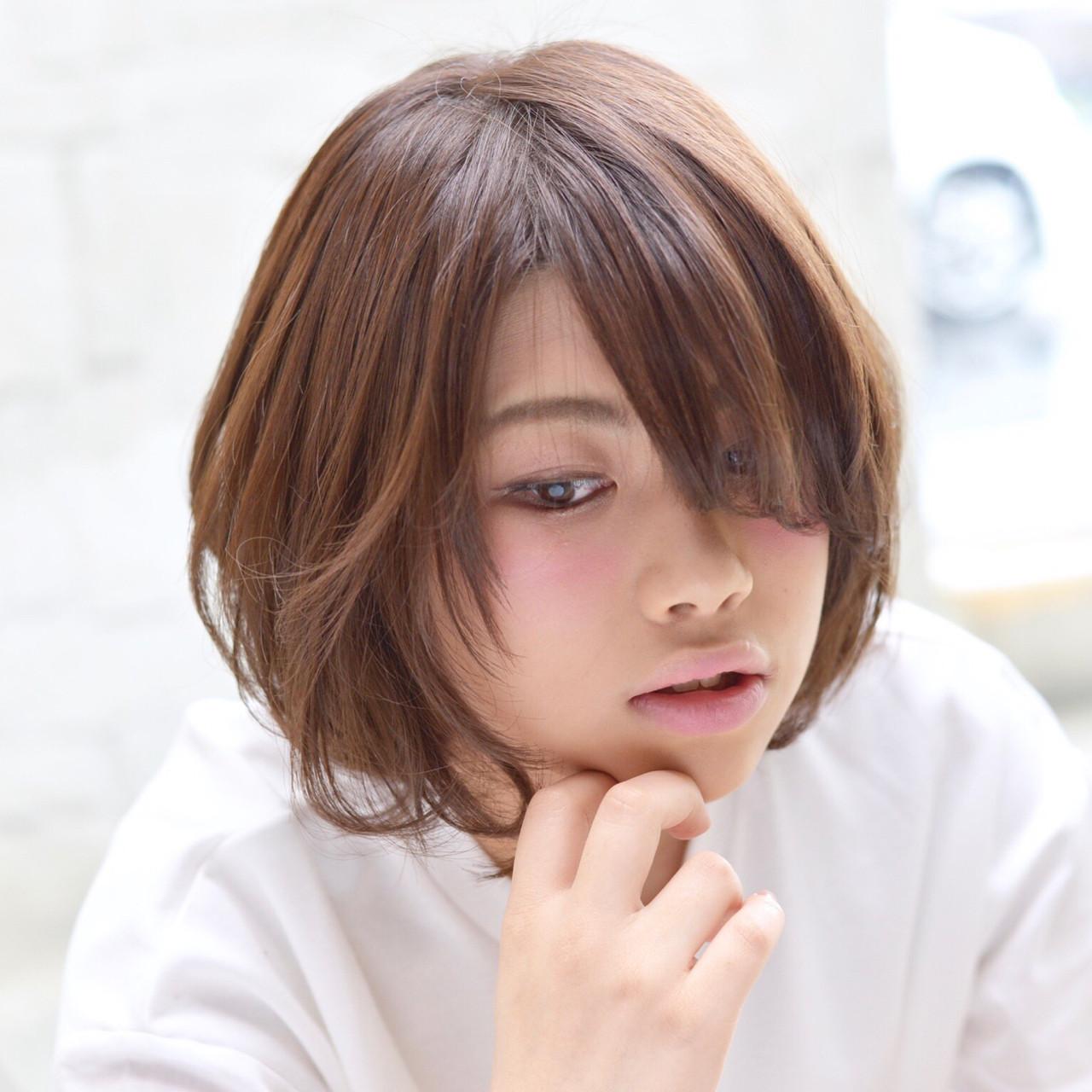 外ハネ アッシュ 大人かわいい ナチュラル ヘアスタイルや髪型の写真・画像 | 中野 裕介/jap international / JAP international Ssalon