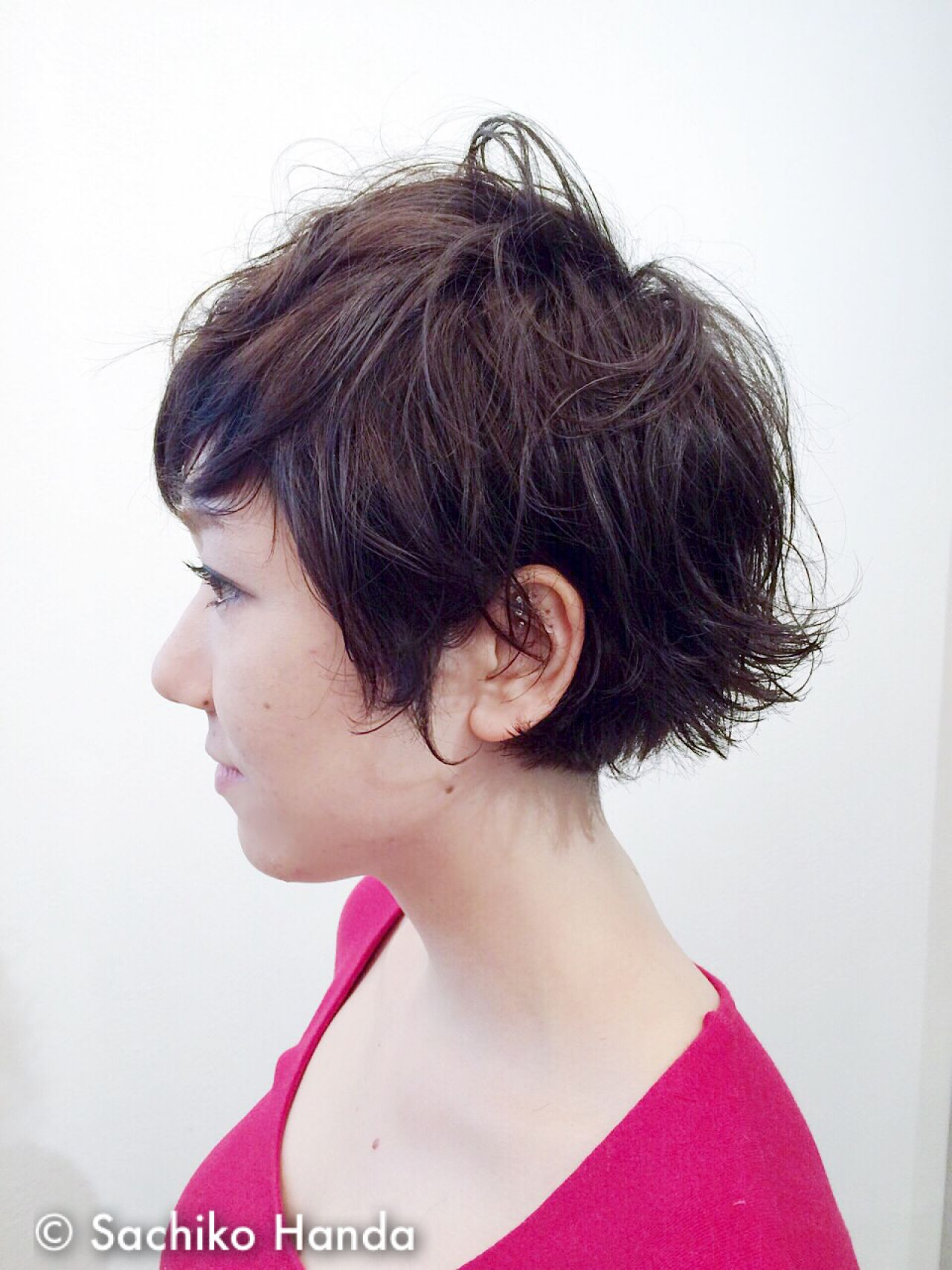 ウェットヘア ウェーブ ショート ストリート ヘアスタイルや髪型の写真・画像 | Sachiko Handa / assort