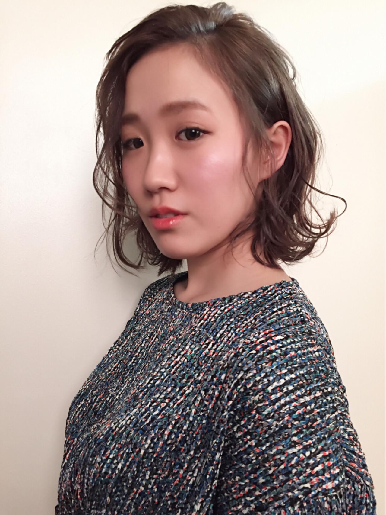 かっこいい ナチュラル フェミニン 大人かわいい ヘアスタイルや髪型の写真・画像   熊谷 公亮 / Fits core