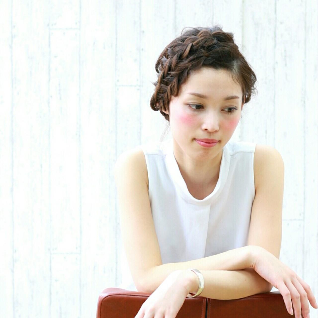 ミディアム ショート 夏 ヘアアレンジ ヘアスタイルや髪型の写真・画像 | 前田えみ/BLOOM /  BLOOM(ブルーム)
