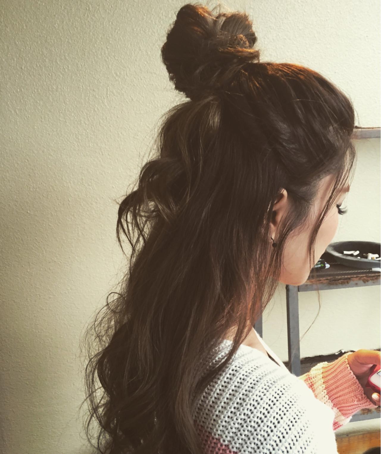渋谷系 ヘアアレンジ 外国人風 ルーズヘアスタイルや髪型の写真・画像