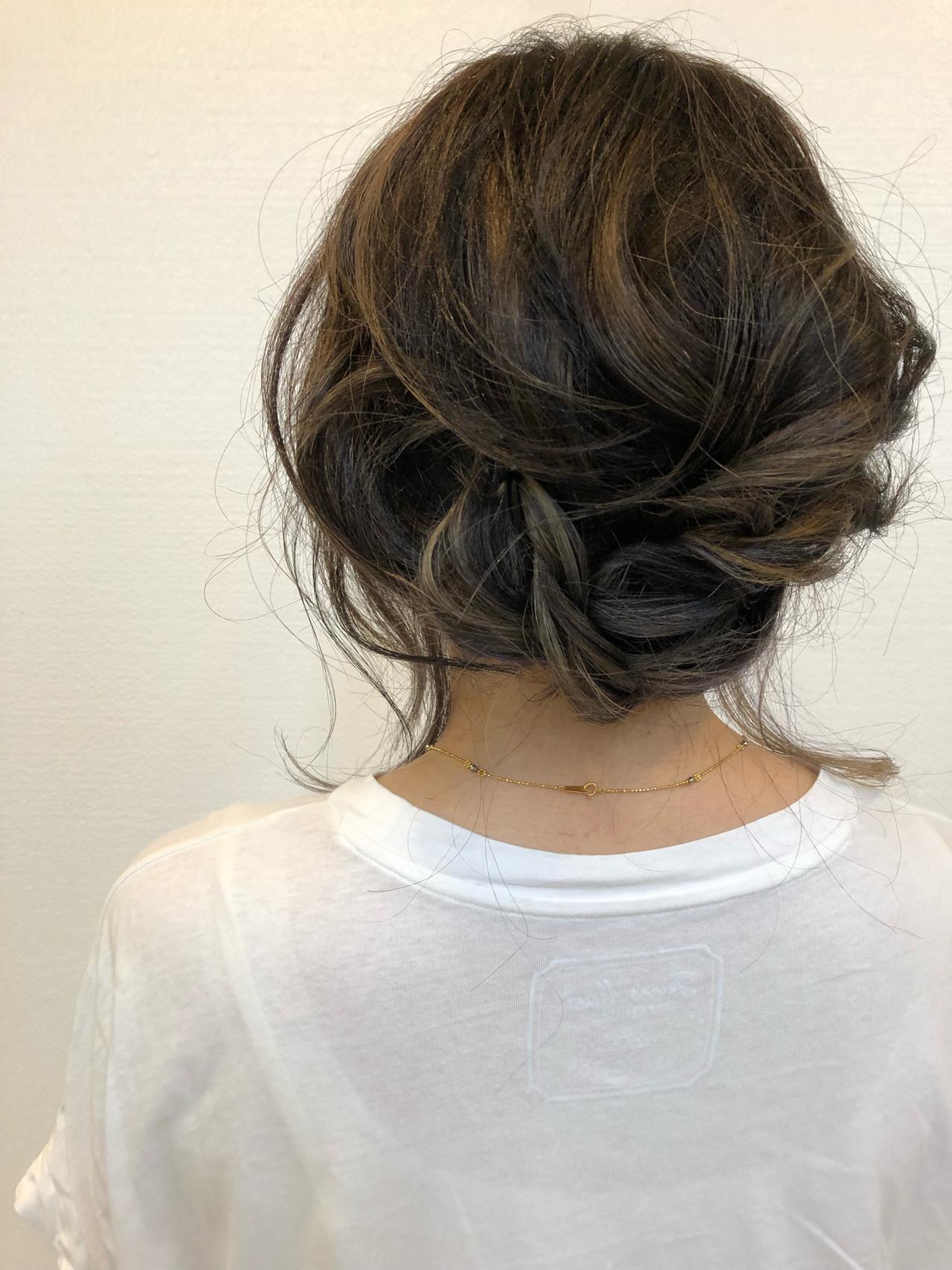 バレイヤージュ ヘアアレンジ 簡単ヘアアレンジ 大人ヘアスタイル ヘアスタイルや髪型の写真・画像 | TMe hair/tomoe chiba / TMe hair川崎小田