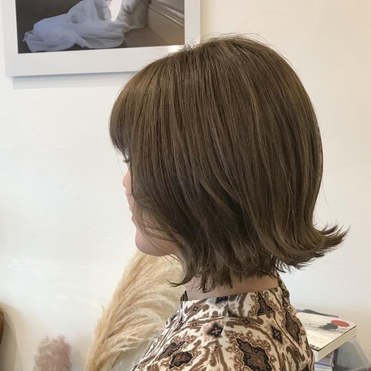 外国人風カラー ミニボブ ボブ 切りっぱなしボブヘアスタイルや髪型の写真・画像