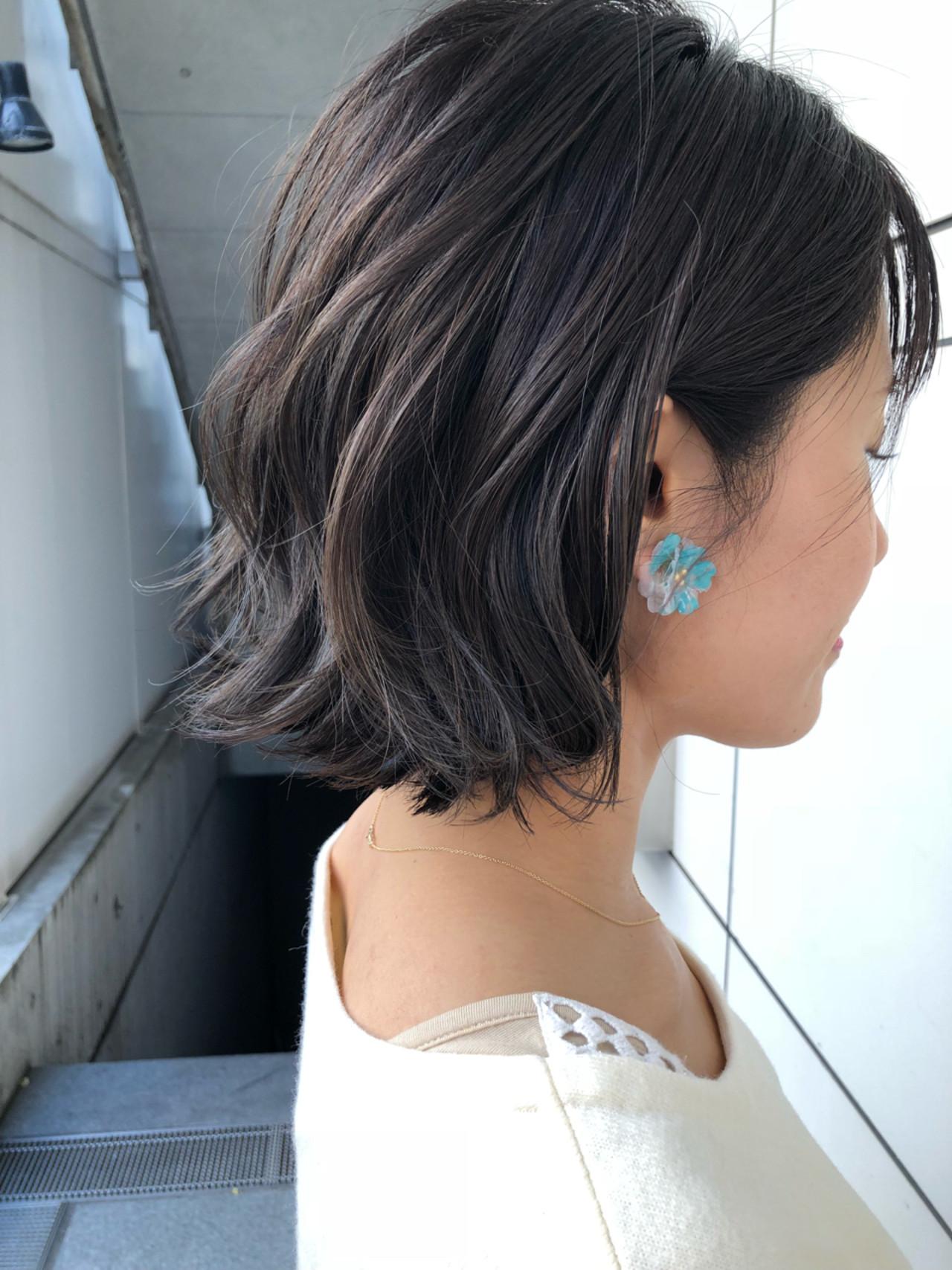 ボブ 大人かわいい ナチュラル 外国人風 ヘアスタイルや髪型の写真・画像 | スガ シュンスケ / Tierra (ティエラ)