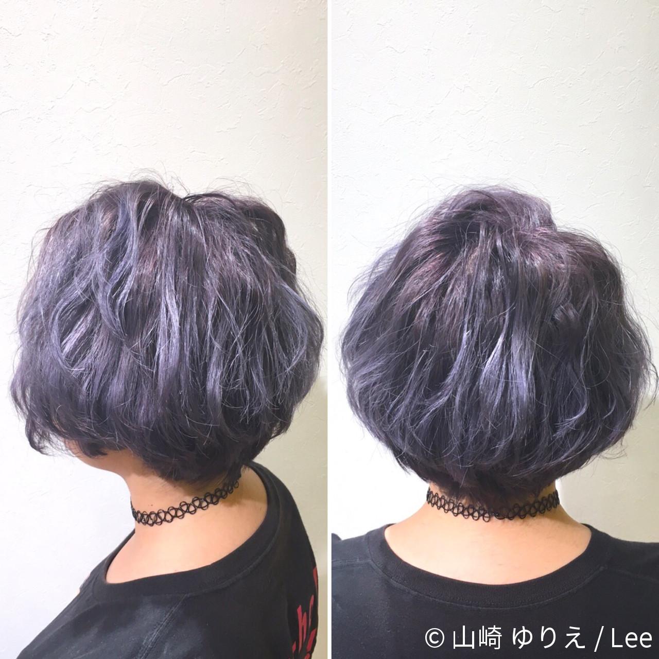 ハイライト アッシュ ストリート グラデーションカラーヘアスタイルや髪型の写真・画像