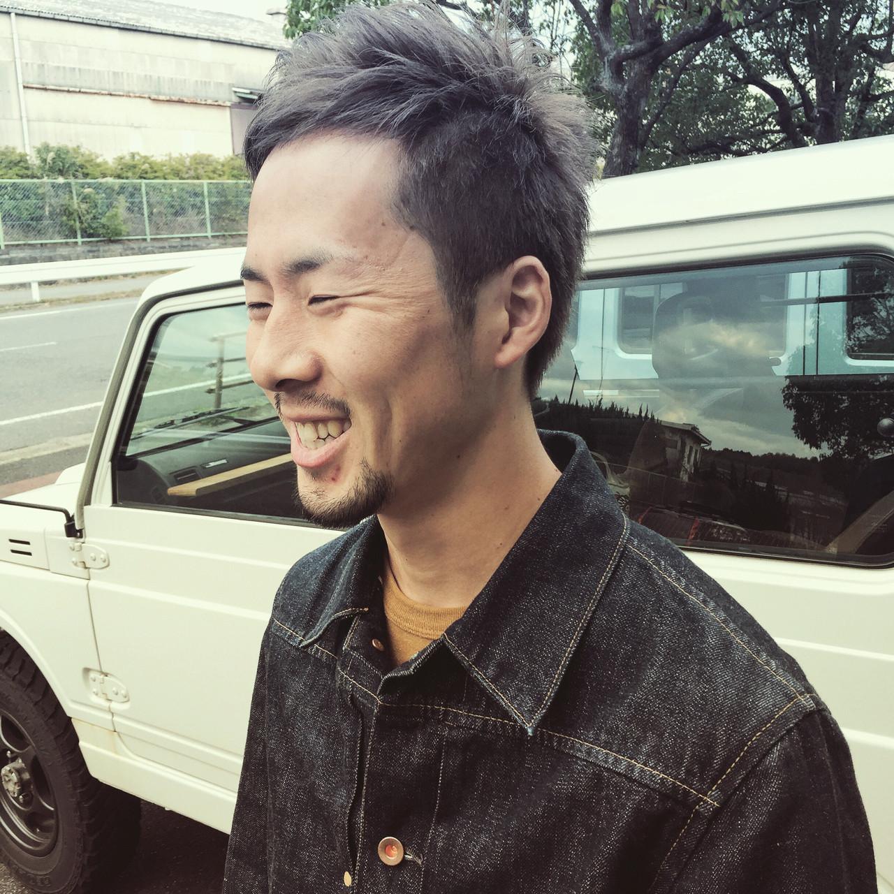 メンズ ショート ストリート シルバーアッシュ ヘアスタイルや髪型の写真・画像 | Katsuto Akimichi / .Dot ATRO
