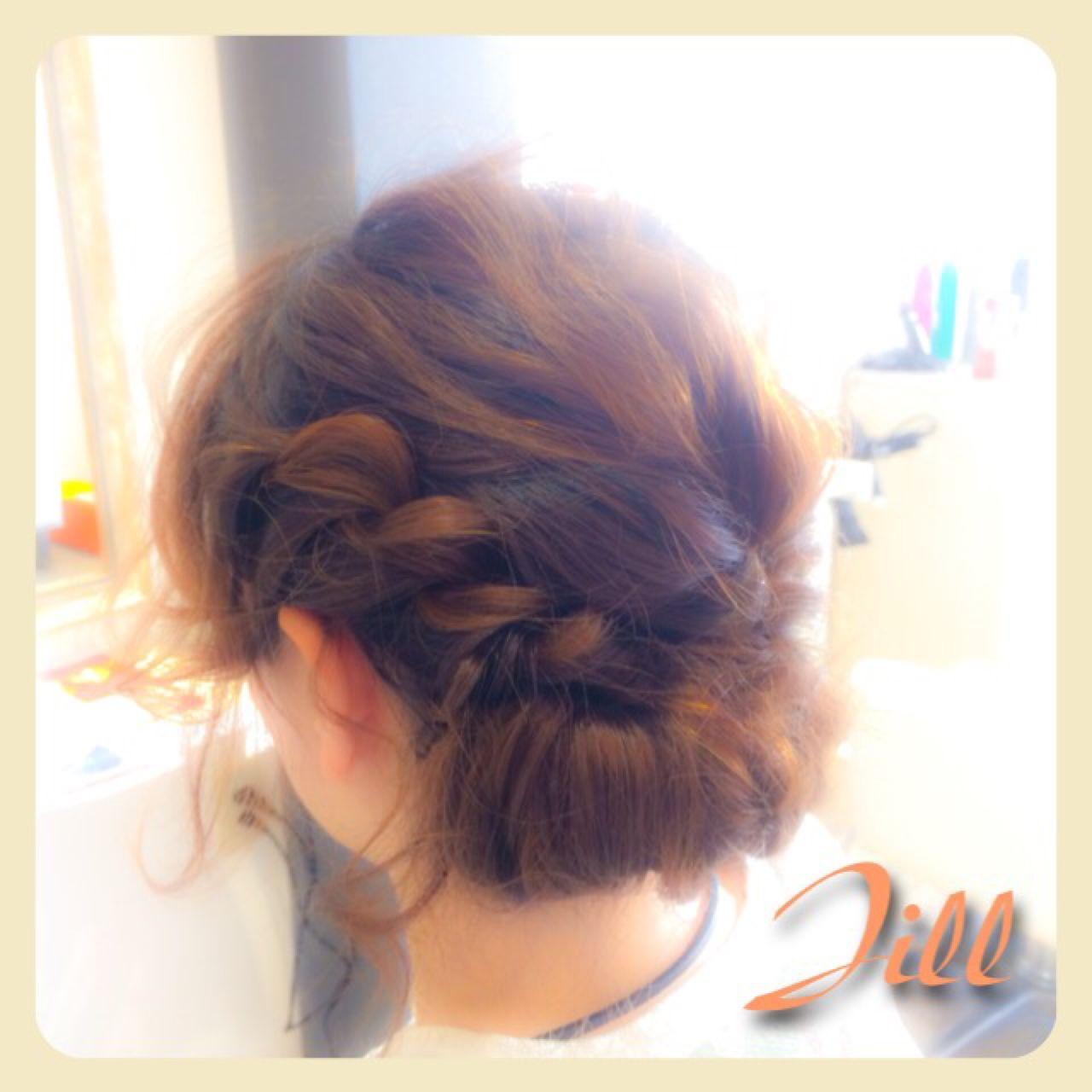 ねじり パーティ ヘアアレンジ 結婚式 ヘアスタイルや髪型の写真・画像   花房 佑典 / Jill / Hair Design Jill