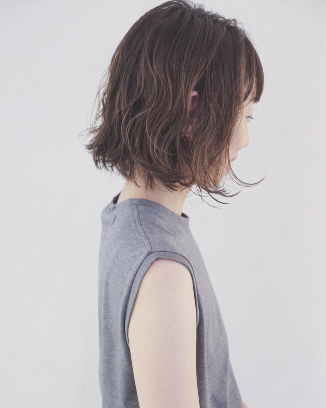 夏 フェミニン ボブ 大人かわいいヘアスタイルや髪型の写真・画像