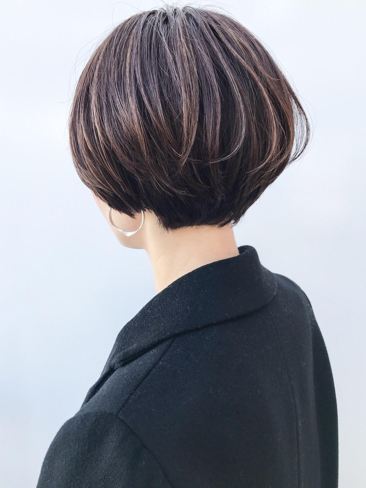 女子力 ハイライト ショート コンサバヘアスタイルや髪型の写真・画像