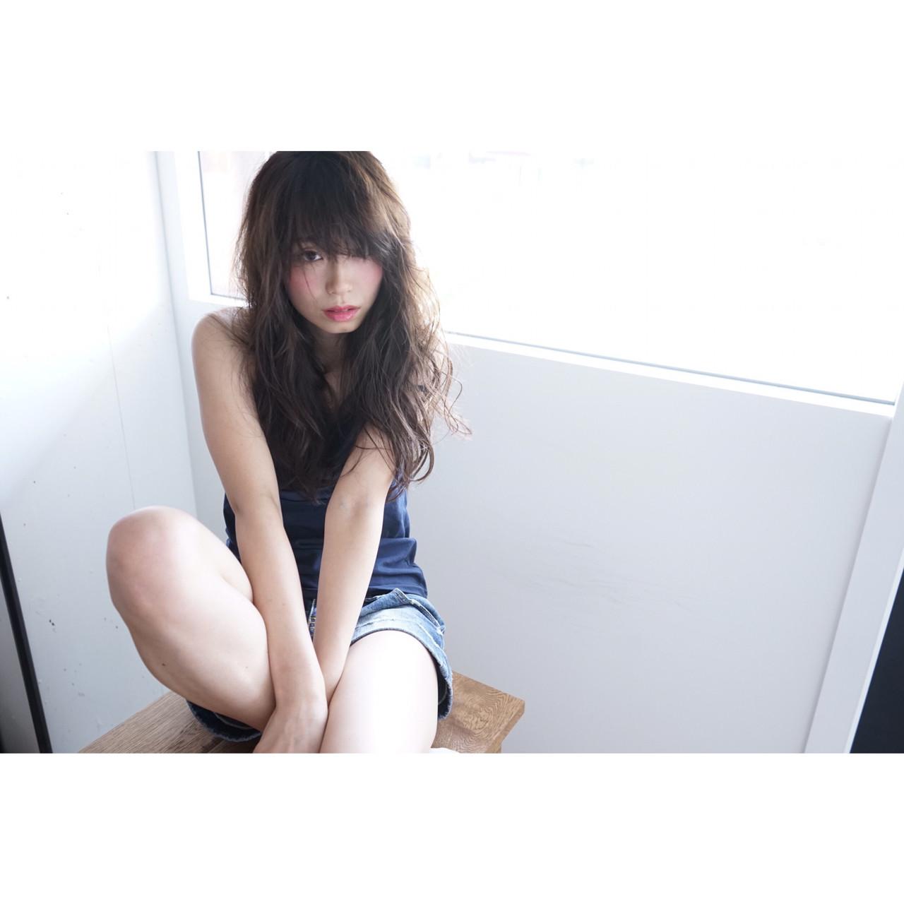 寝癖 ナチュラル 抜け感 ロング ヘアスタイルや髪型の写真・画像 | haruka /