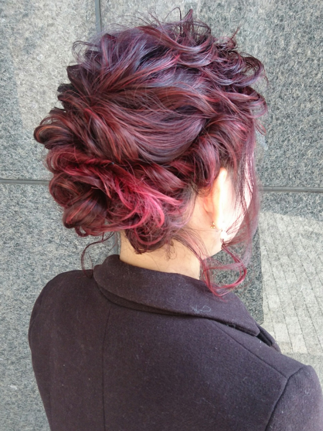 外国人風 結婚式 ミディアム ヘアアレンジ ヘアスタイルや髪型の写真・画像   島田 和也 / total beauty house flap MICHI