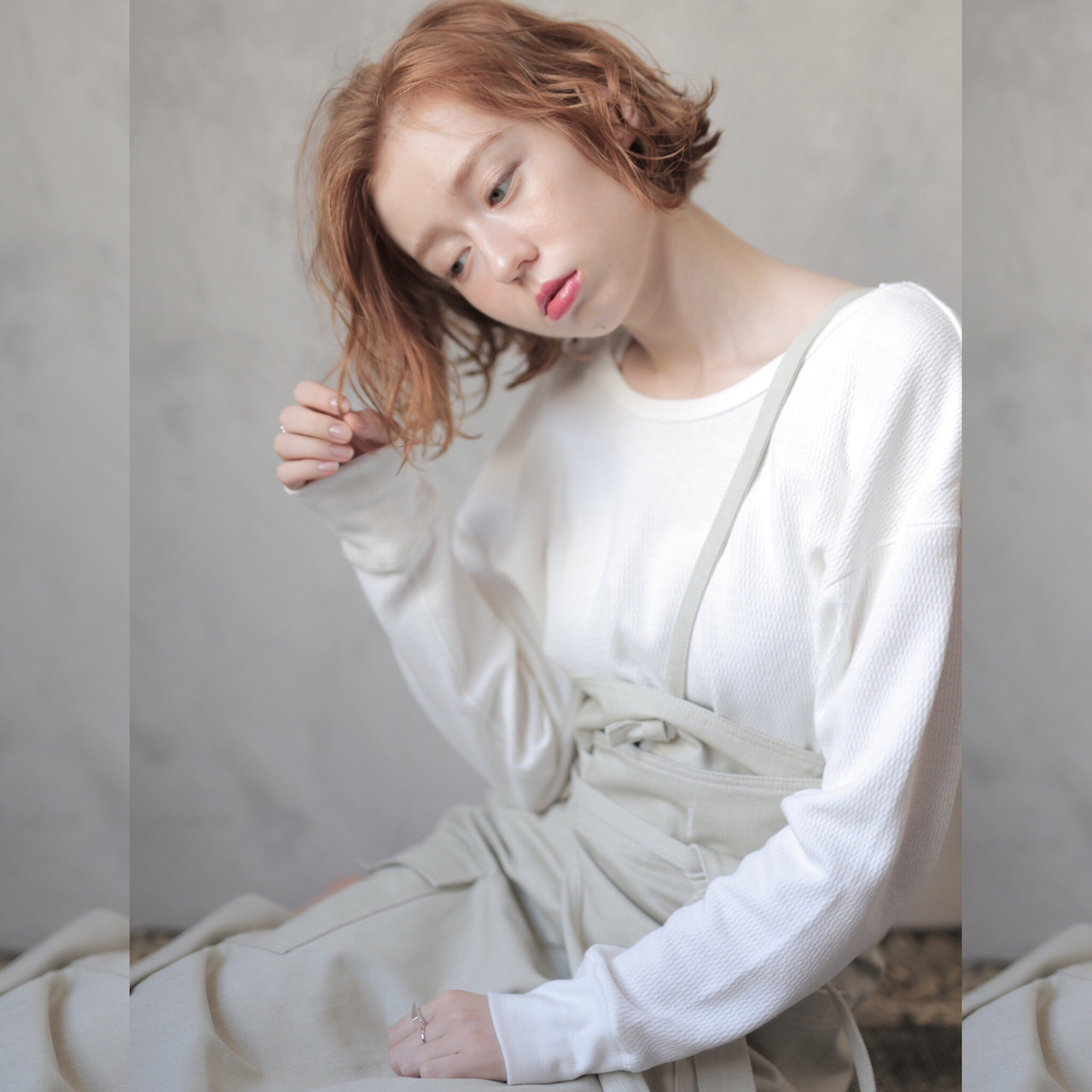 切りっぱなしボブ ショートボブ 透明感カラー ナチュラル ヘアスタイルや髪型の写真・画像 | 道具朝美.ELICA / ELICA.Top stylist.下北沢