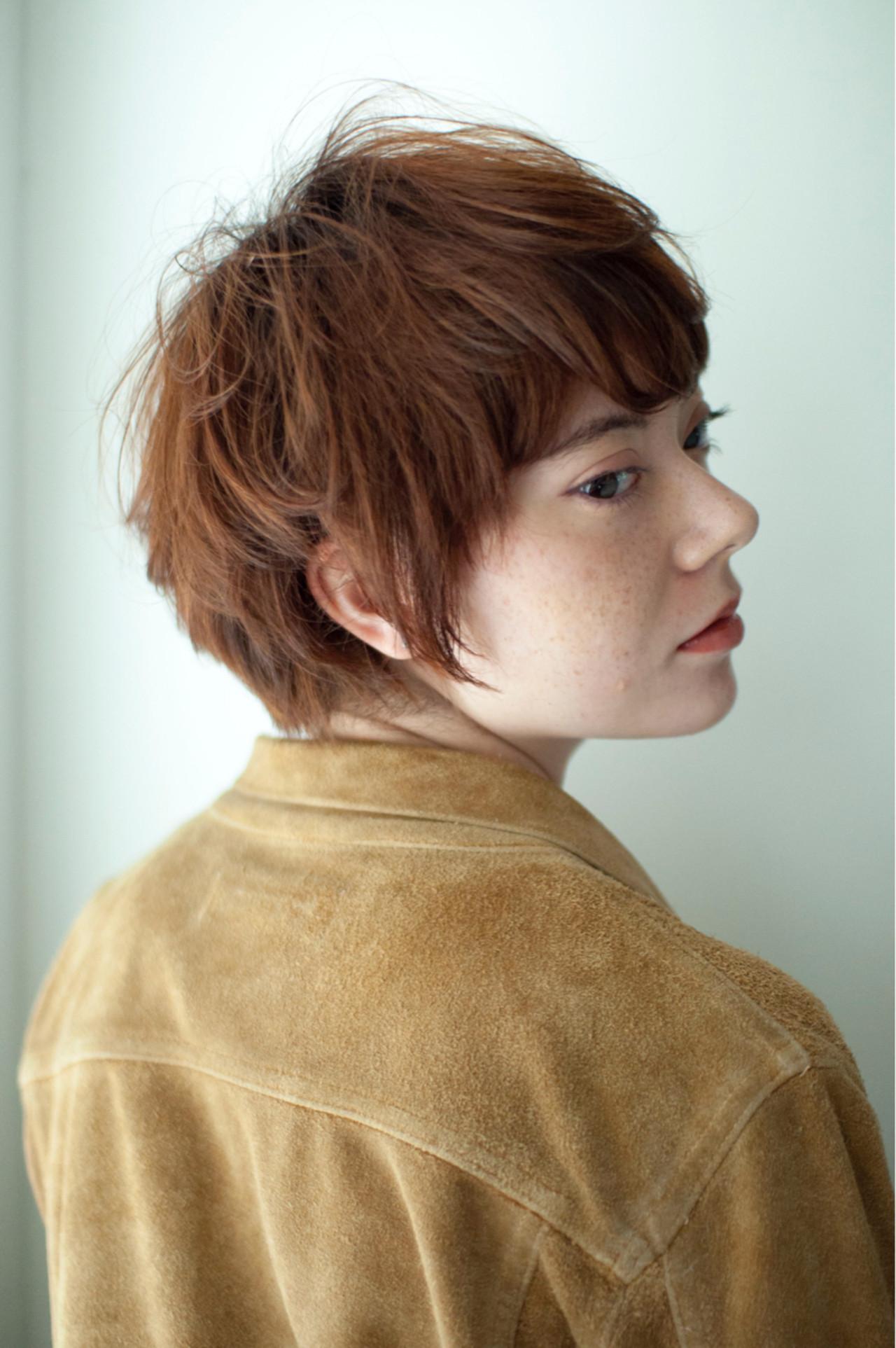 小顔 マッシュ 似合わせ ベリーショートヘアスタイルや髪型の写真・画像