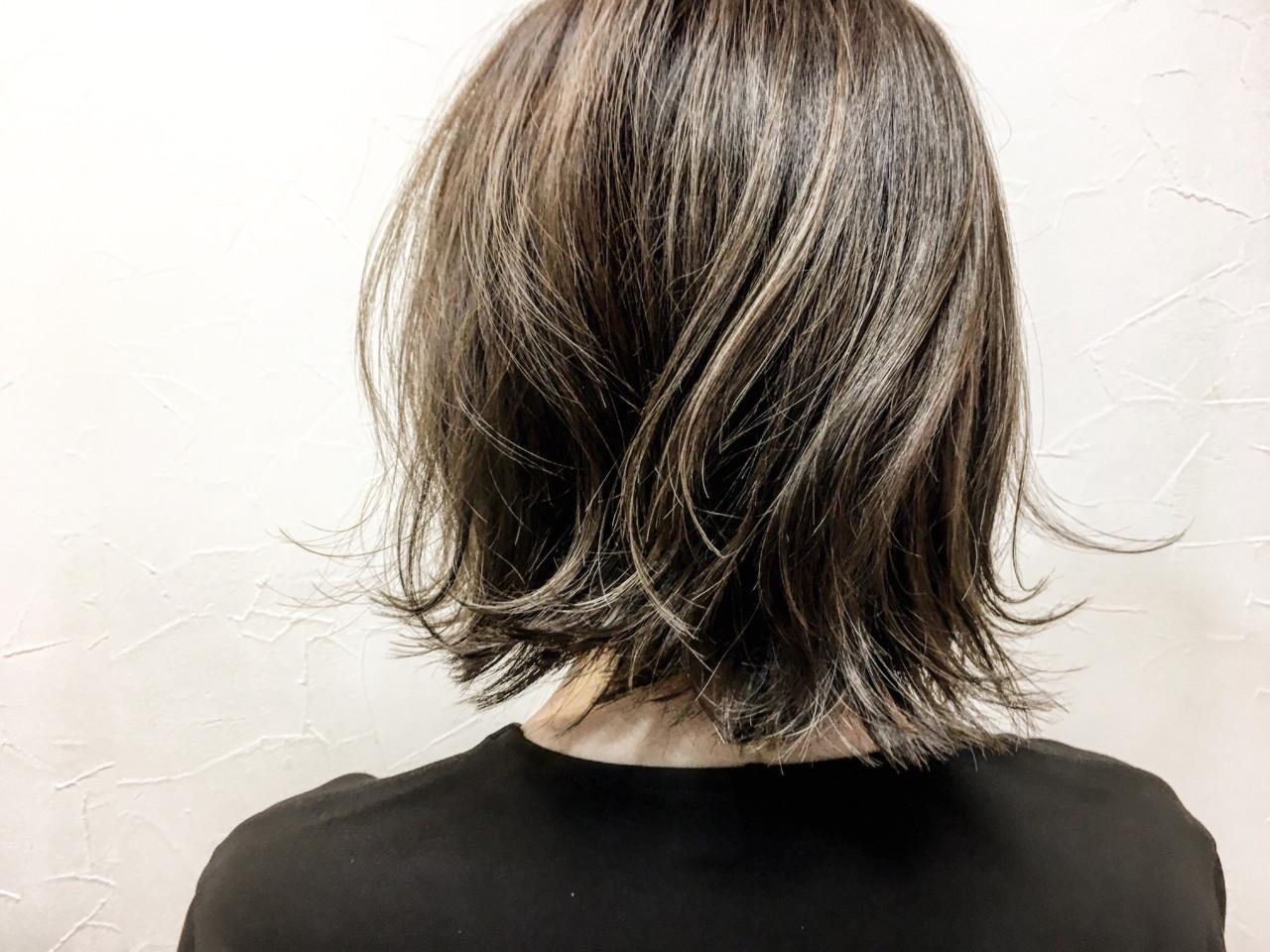 色気 切りっぱなし 外ハネ こなれ感ヘアスタイルや髪型の写真・画像