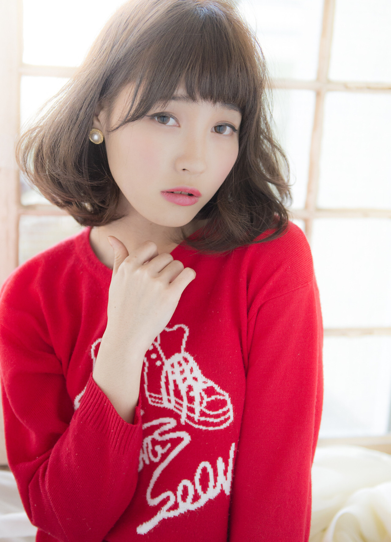 グラデーションカラー 前髪あり 大人かわいい ミディアム ヘアスタイルや髪型の写真・画像 | 玉井 浩太 / LOUIMADNA