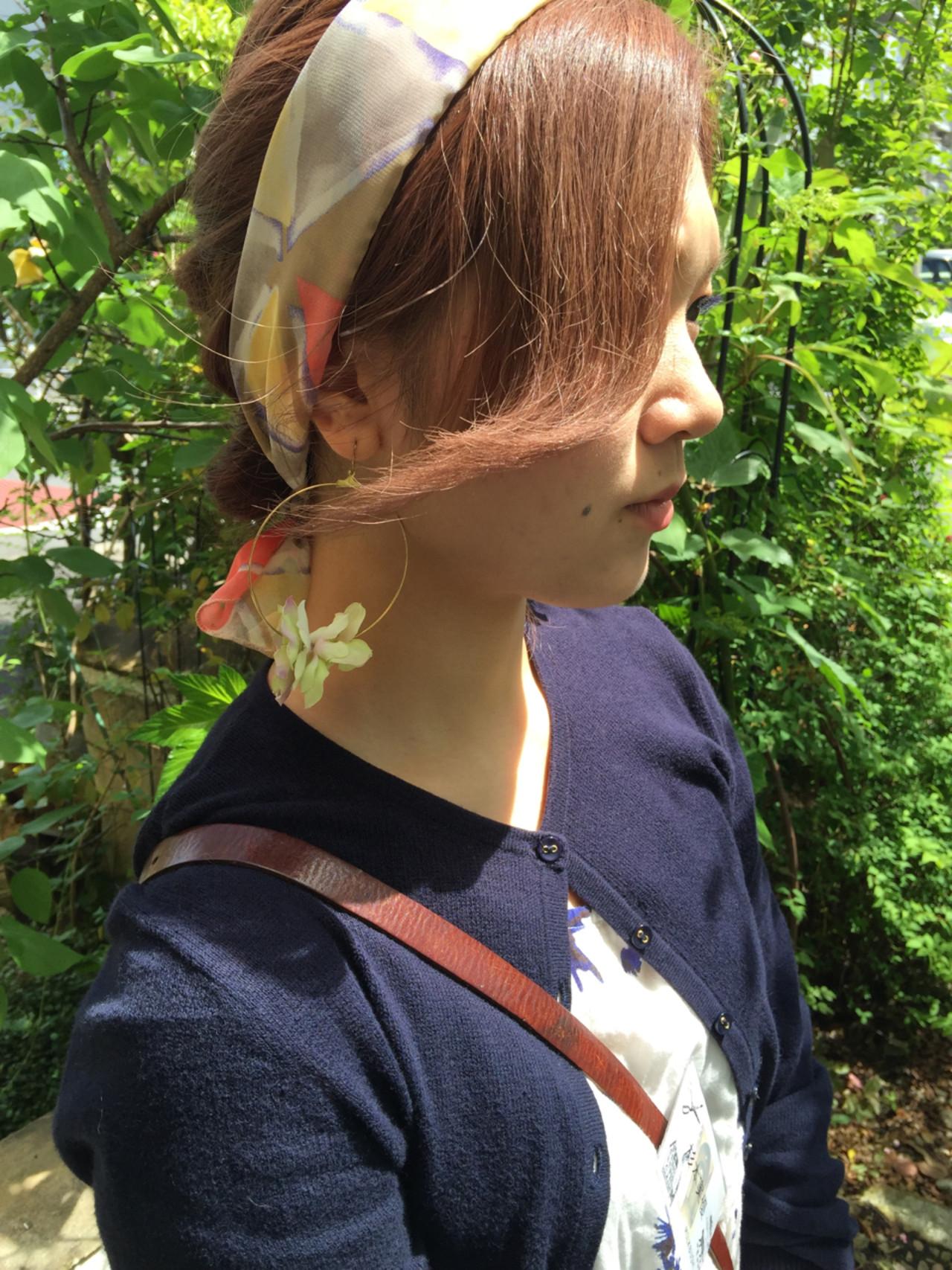 ハーフアップ ミディアム 大人かわいい 簡単ヘアアレンジヘアスタイルや髪型の写真・画像