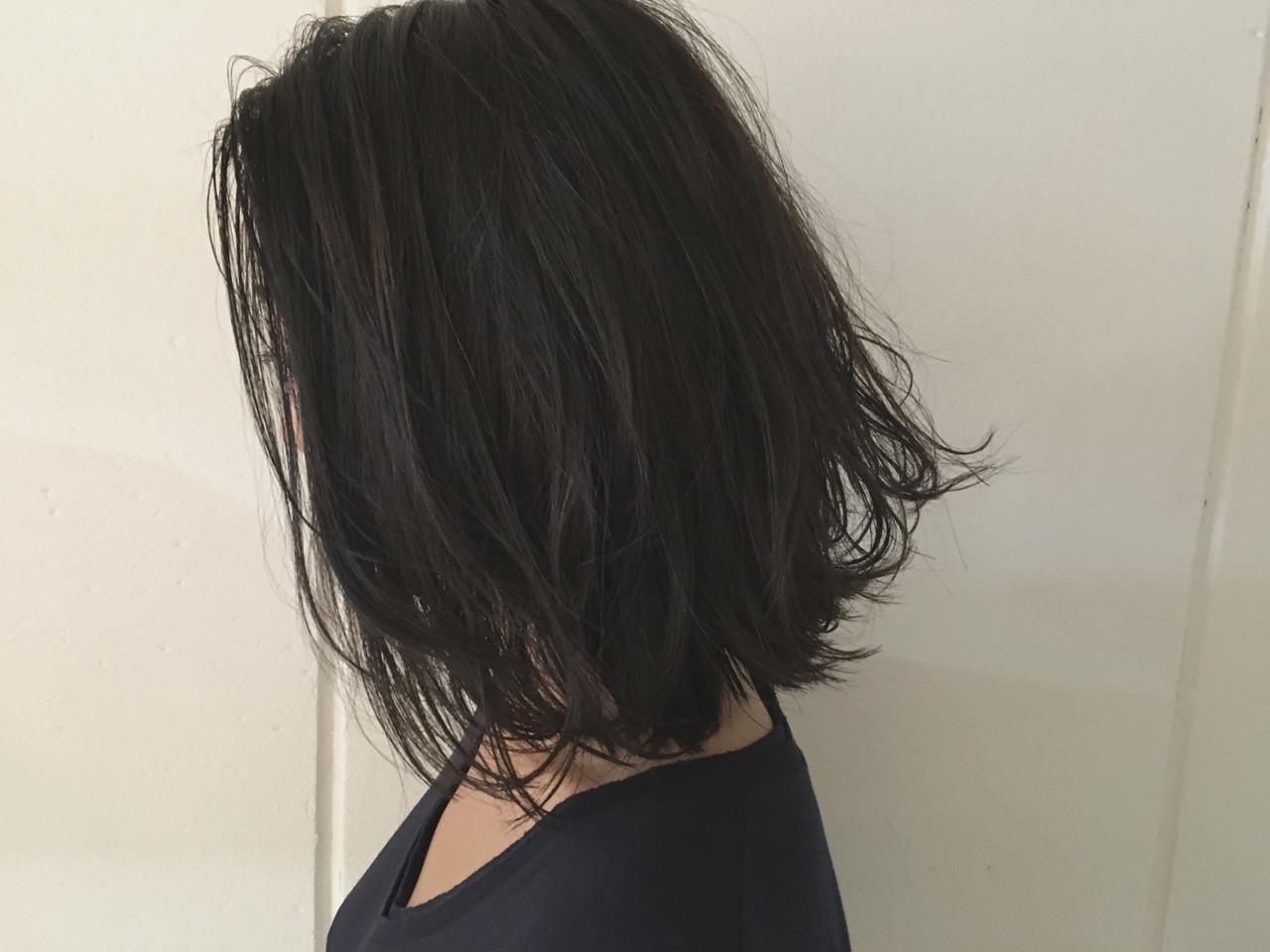 ロブ ボブ 大人かわいい ストリートヘアスタイルや髪型の写真・画像