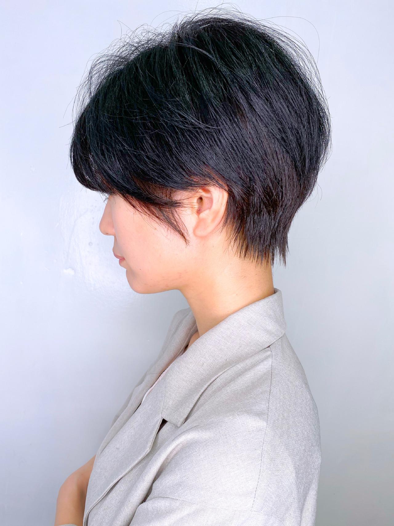 簡単スタイリング ショート ショートヘア ショートボブ ヘアスタイルや髪型の写真・画像