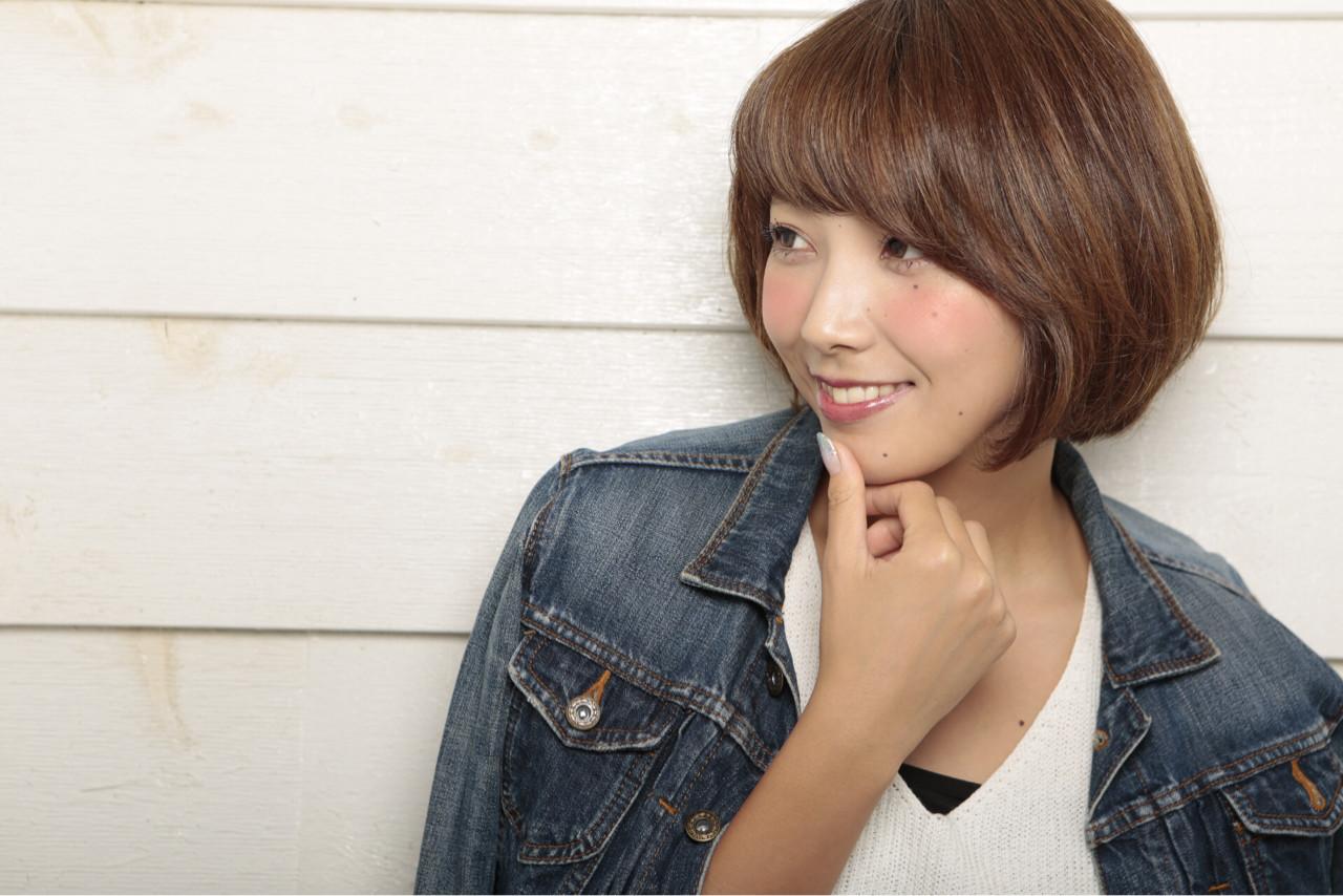 ショート 前髪あり 小顔 大人かわいい ヘアスタイルや髪型の写真・画像 | オバタチカ / brick by closet