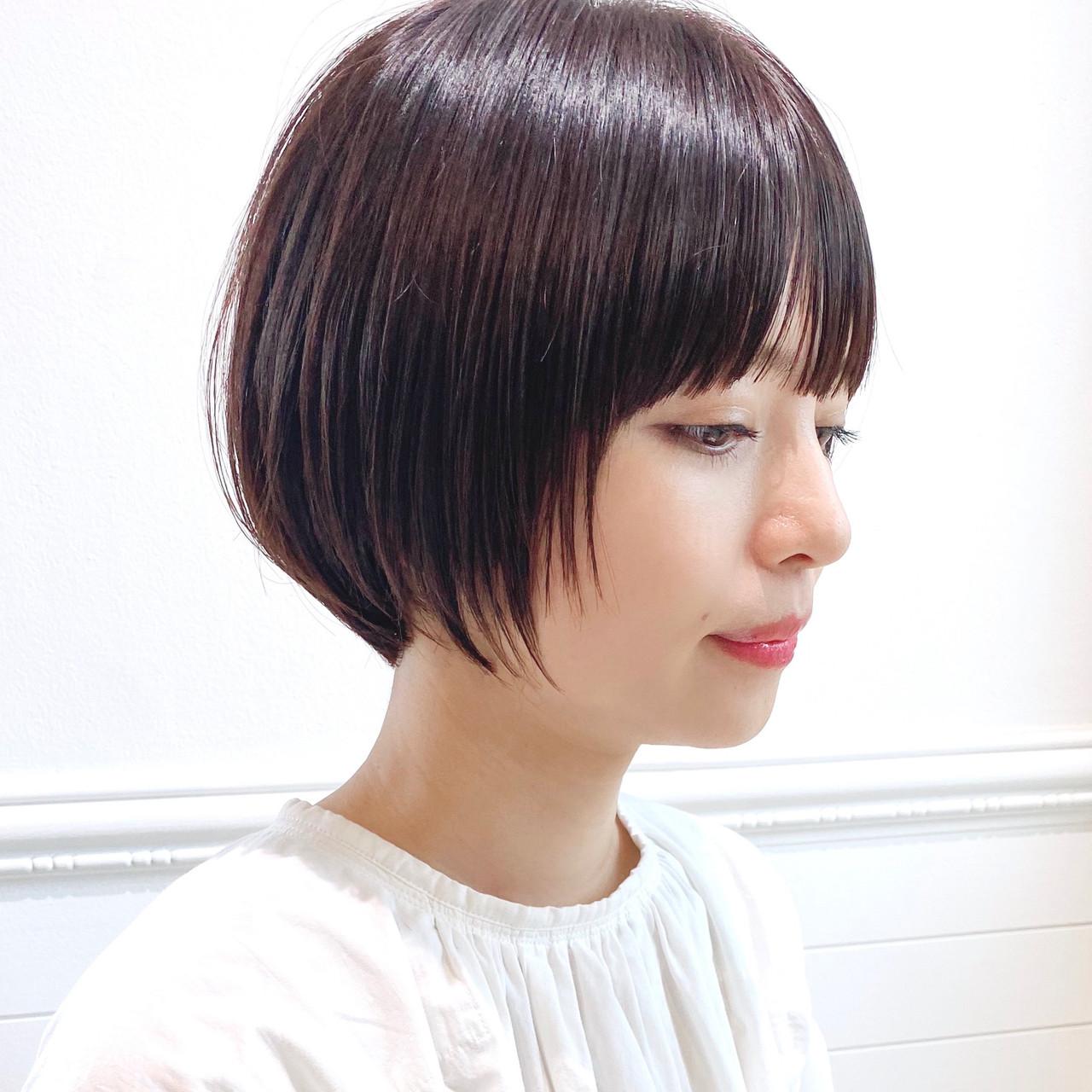 ショートボブ ショート ショートヘア 大人ショートヘアスタイルや髪型の写真・画像