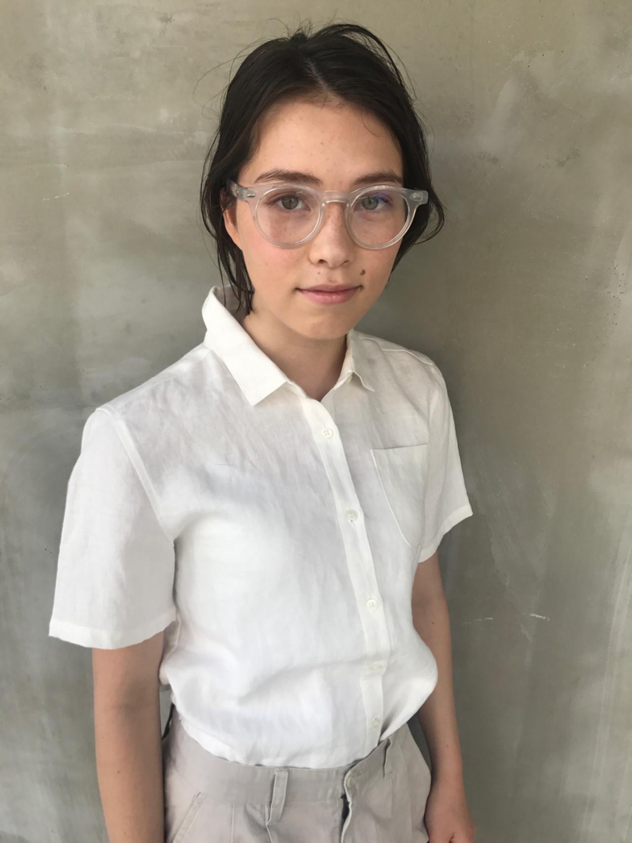 外国人風 ボブ アウトドア ヘアアレンジ ヘアスタイルや髪型の写真・画像 | 小西敬二郎 / Heartim
