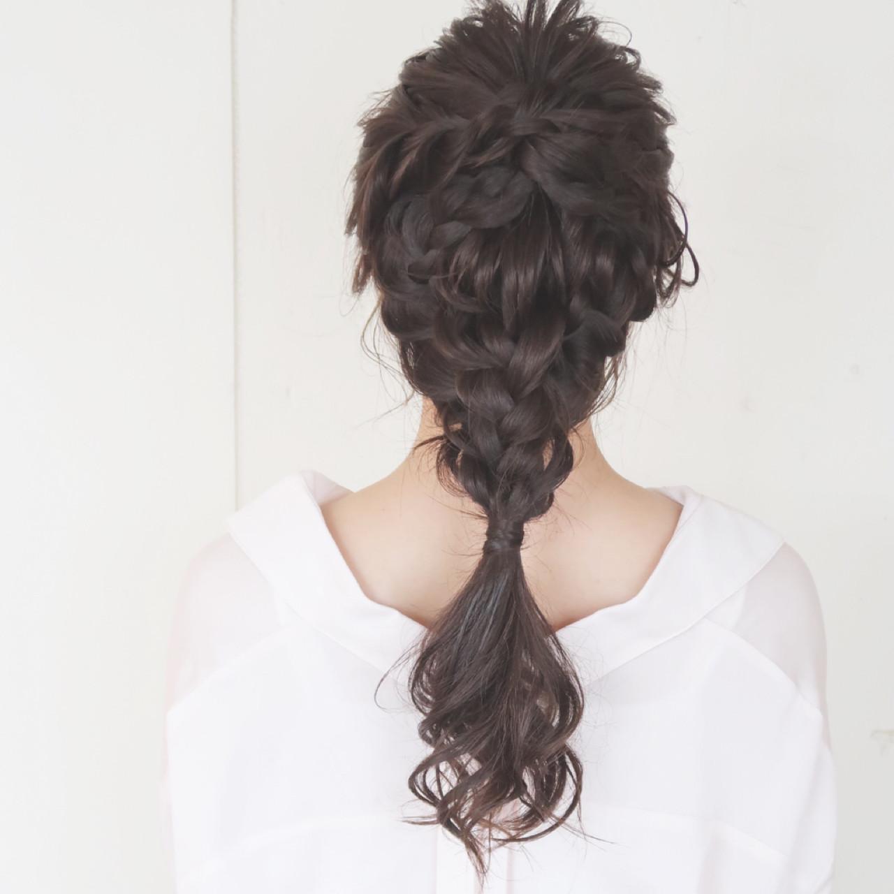 ナチュラル 大人かわいい 編み込み ロング ヘアスタイルや髪型の写真・画像 | 平川 元気 / MAPUNA
