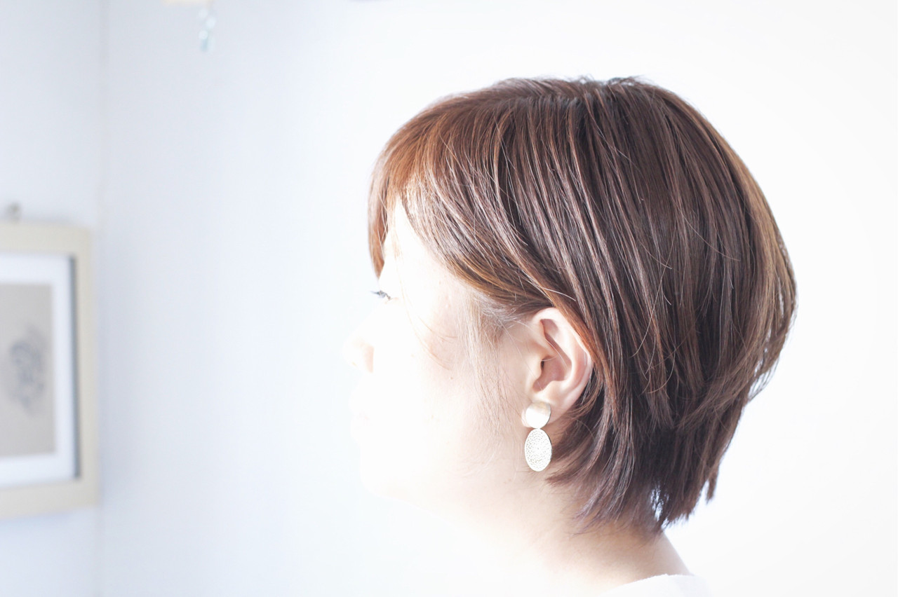 ショート グレージュ アッシュグレージュ ショートボブ ヘアスタイルや髪型の写真・画像   creap / creap