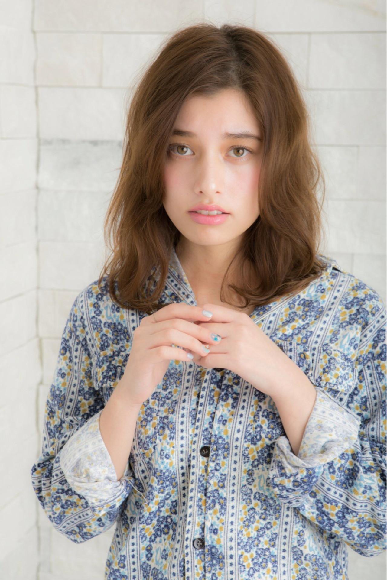 ニュアンス 大人女子 こなれ感 ミディアム ヘアスタイルや髪型の写真・画像 | 内田健太 / 4-restgarden