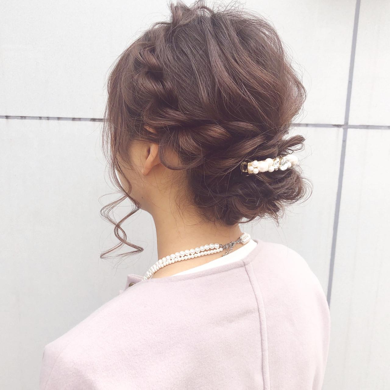 セミロング デート 結婚式 ヘアアレンジ ヘアスタイルや髪型の写真・画像 | 『ボブ美容師』永田邦彦 表参道 / send by HAIR