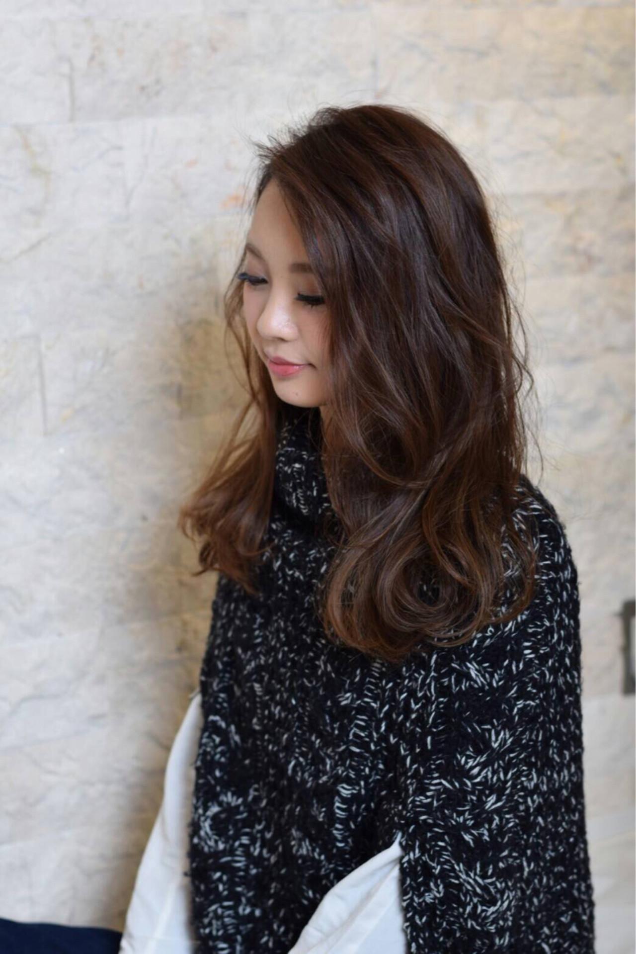モード セミロング ナチュラル 抜け感 ヘアスタイルや髪型の写真・画像 | 藤田真奈 /