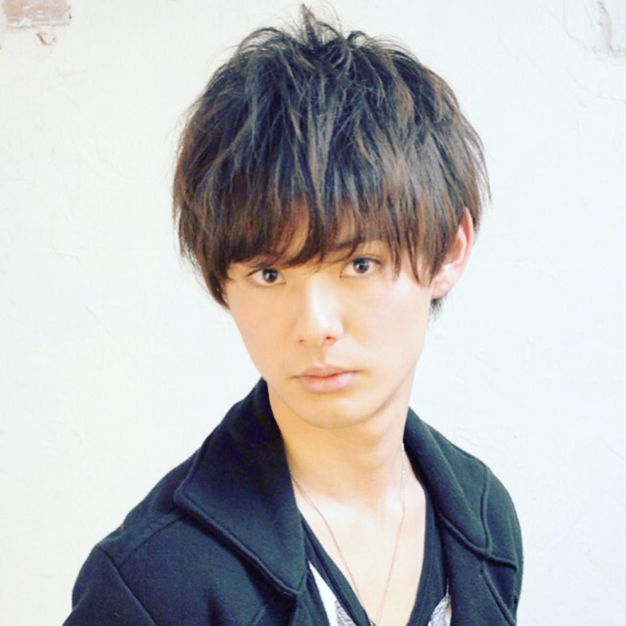 黒髪 ナチュラル パーマ ショート ヘアスタイルや髪型の写真・画像   Nao Kokubun blast / blast
