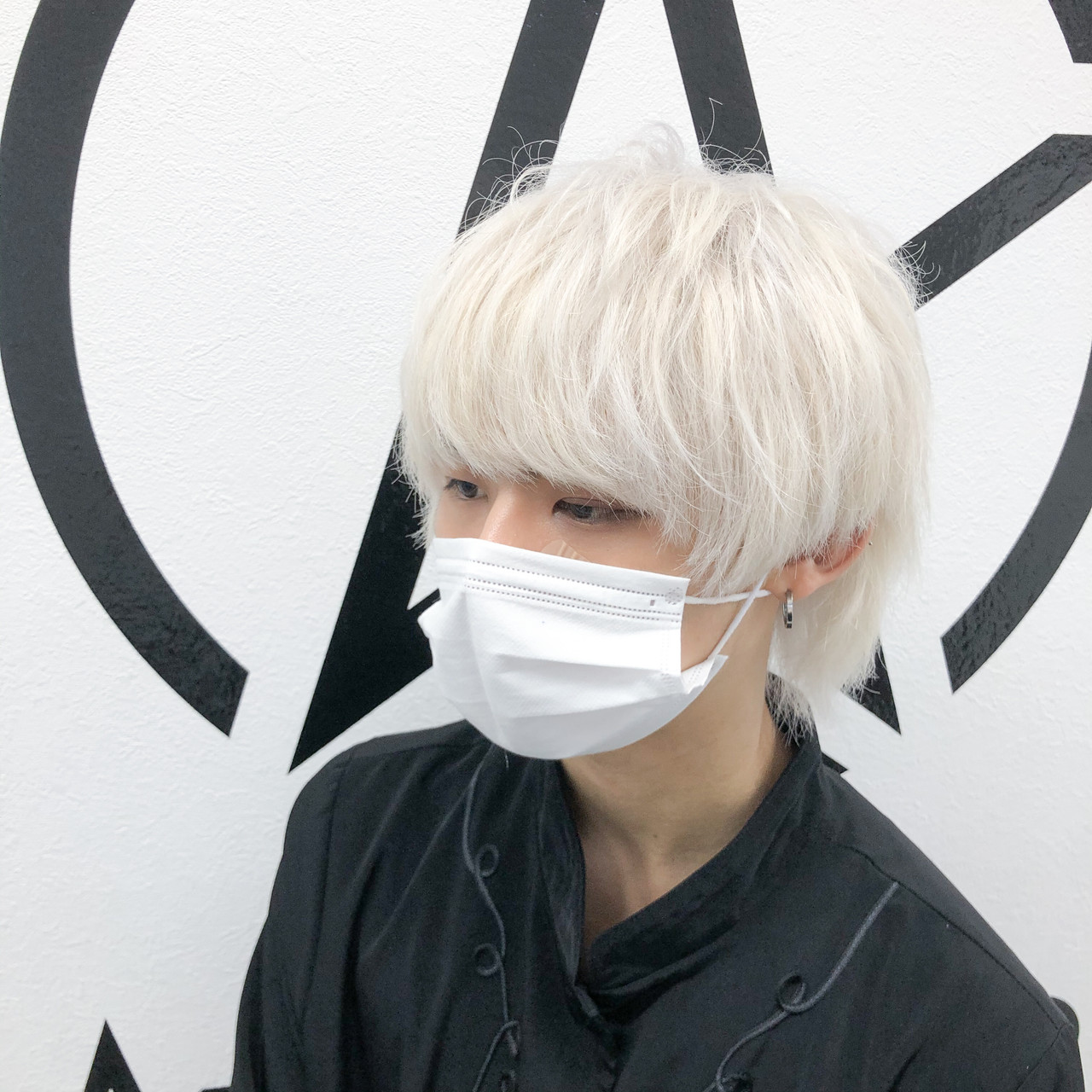 ブリーチオンカラー ブリーチ ホワイトブリーチ モードヘアスタイルや髪型の写真・画像