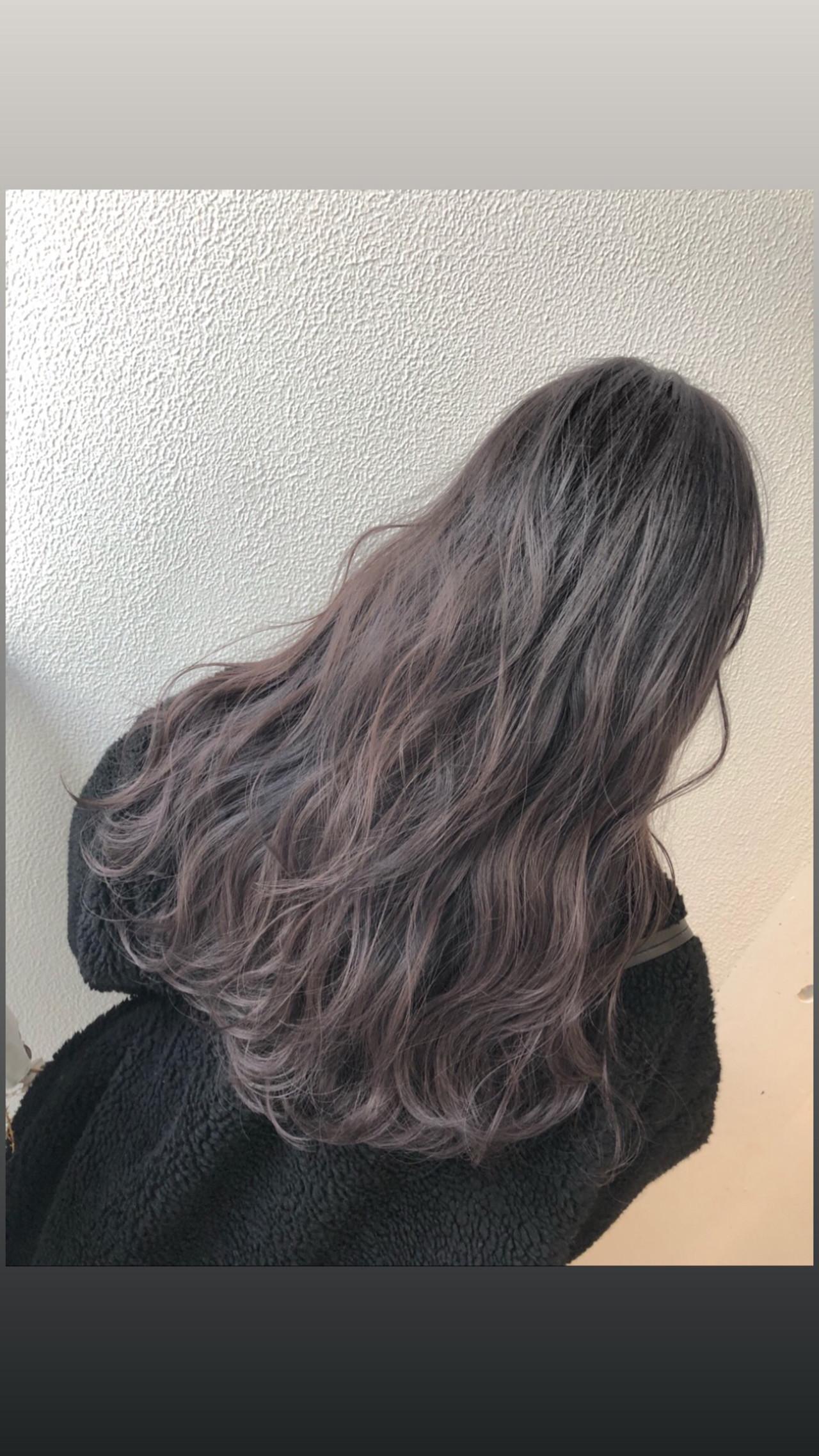バレイヤージュ 外国人風カラー 外国人風フェミニン グラデーションカラーヘアスタイルや髪型の写真・画像