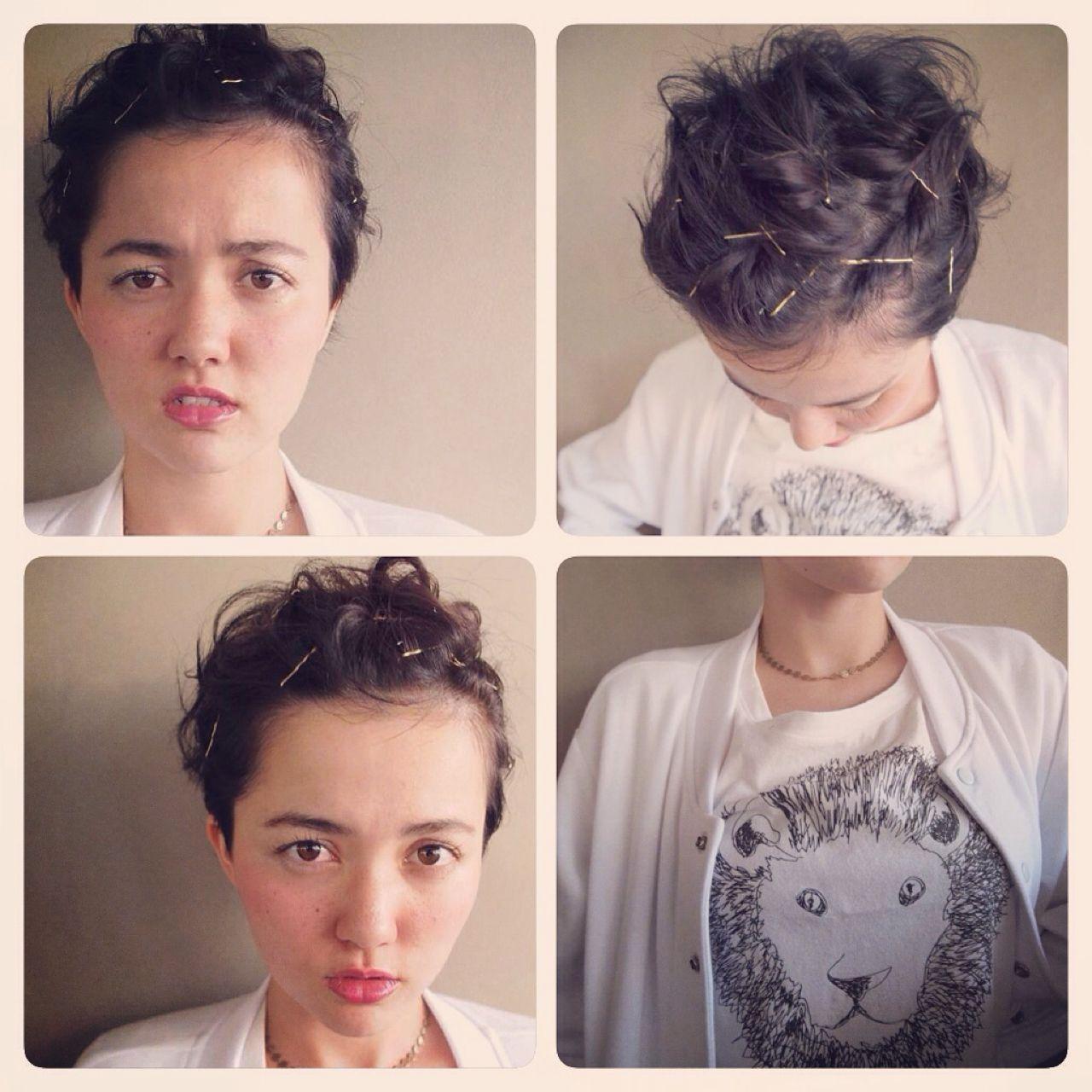 黒髪 ヘアアレンジ ガーリーヘアスタイルや髪型の写真・画像