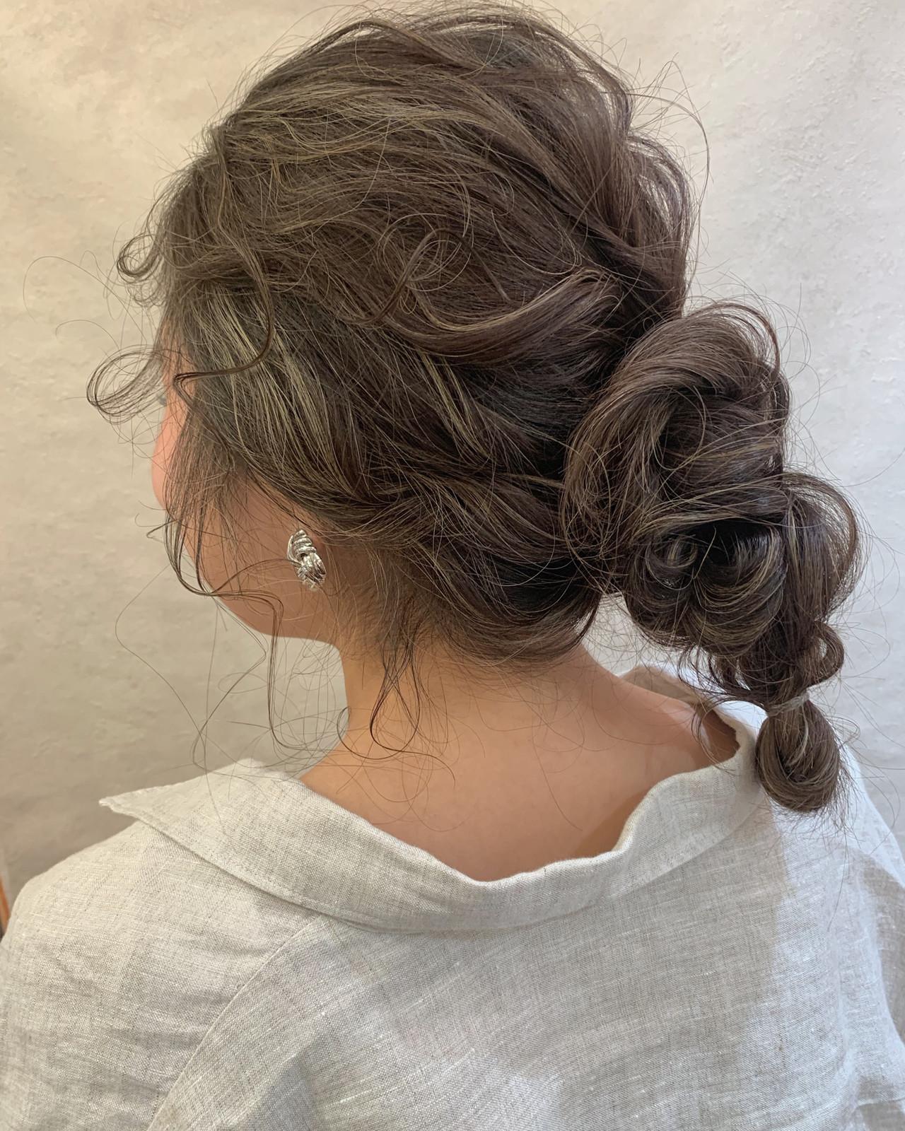 セミロング ヘアアレンジ スポーツ フェミニン ヘアスタイルや髪型の写真・画像 | 安永怜 / kakimotoarms田園調布
