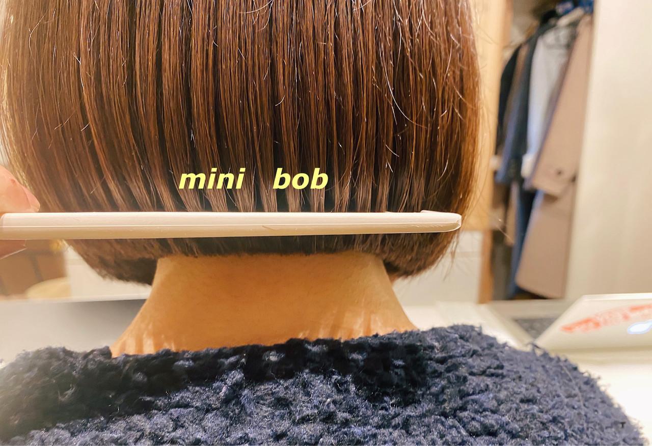 ショートヘア インナーカラー ショートボブ 切りっぱなしボブ ヘアスタイルや髪型の写真・画像 | 槙山ユースケ/トップスタイリスト / chobii