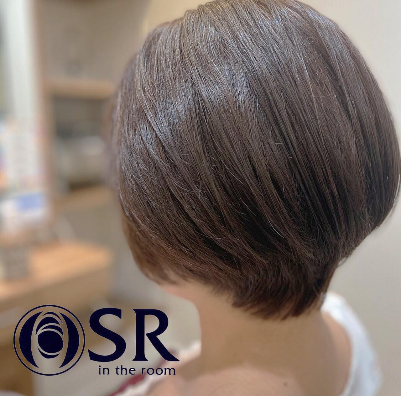 ショートヘア ボブ ミニボブ 大人女子 ヘアスタイルや髪型の写真・画像 | 公平 / SR in the room
