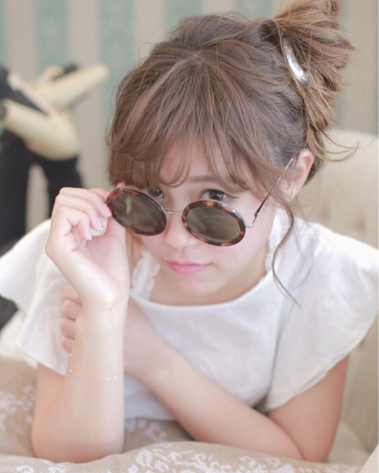 ルーズ ゆるふわ ショート お団子 ヘアスタイルや髪型の写真・画像 | Seiya hishiki / luccica paris