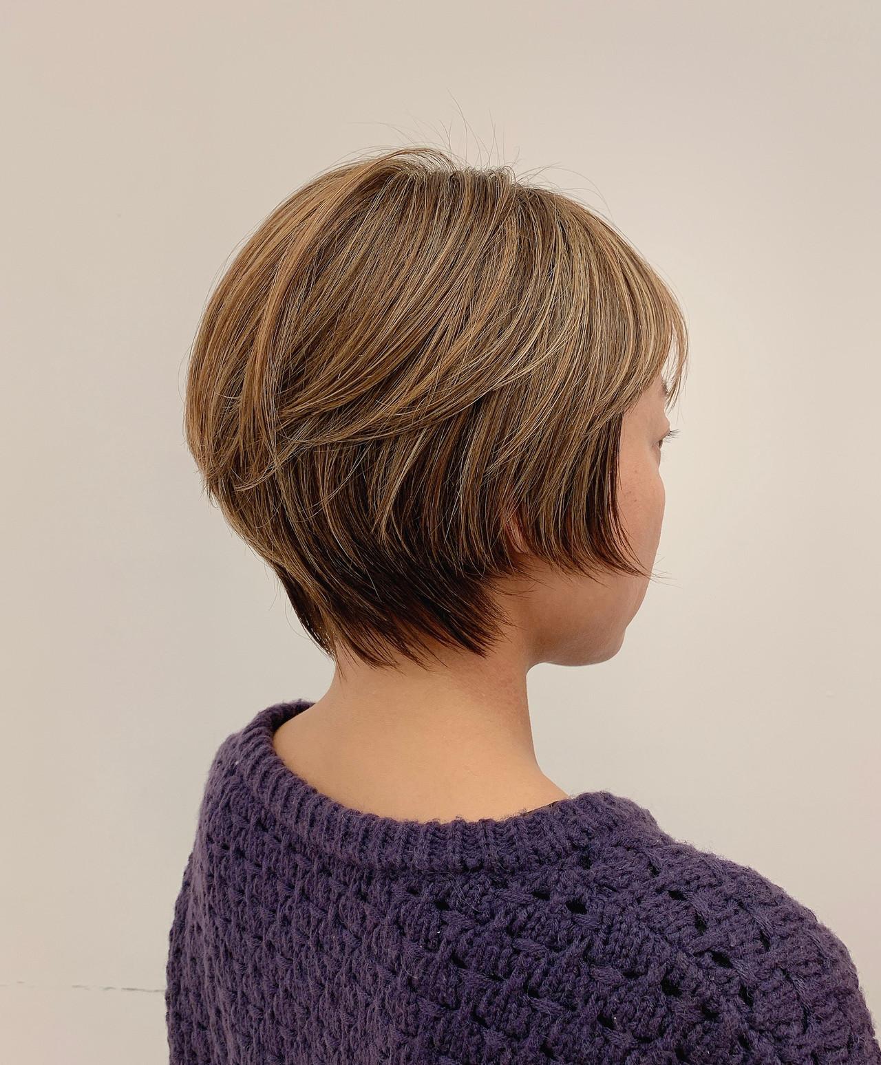 ナチュラル ショート 抜け感 簡単スタイリングヘアスタイルや髪型の写真・画像
