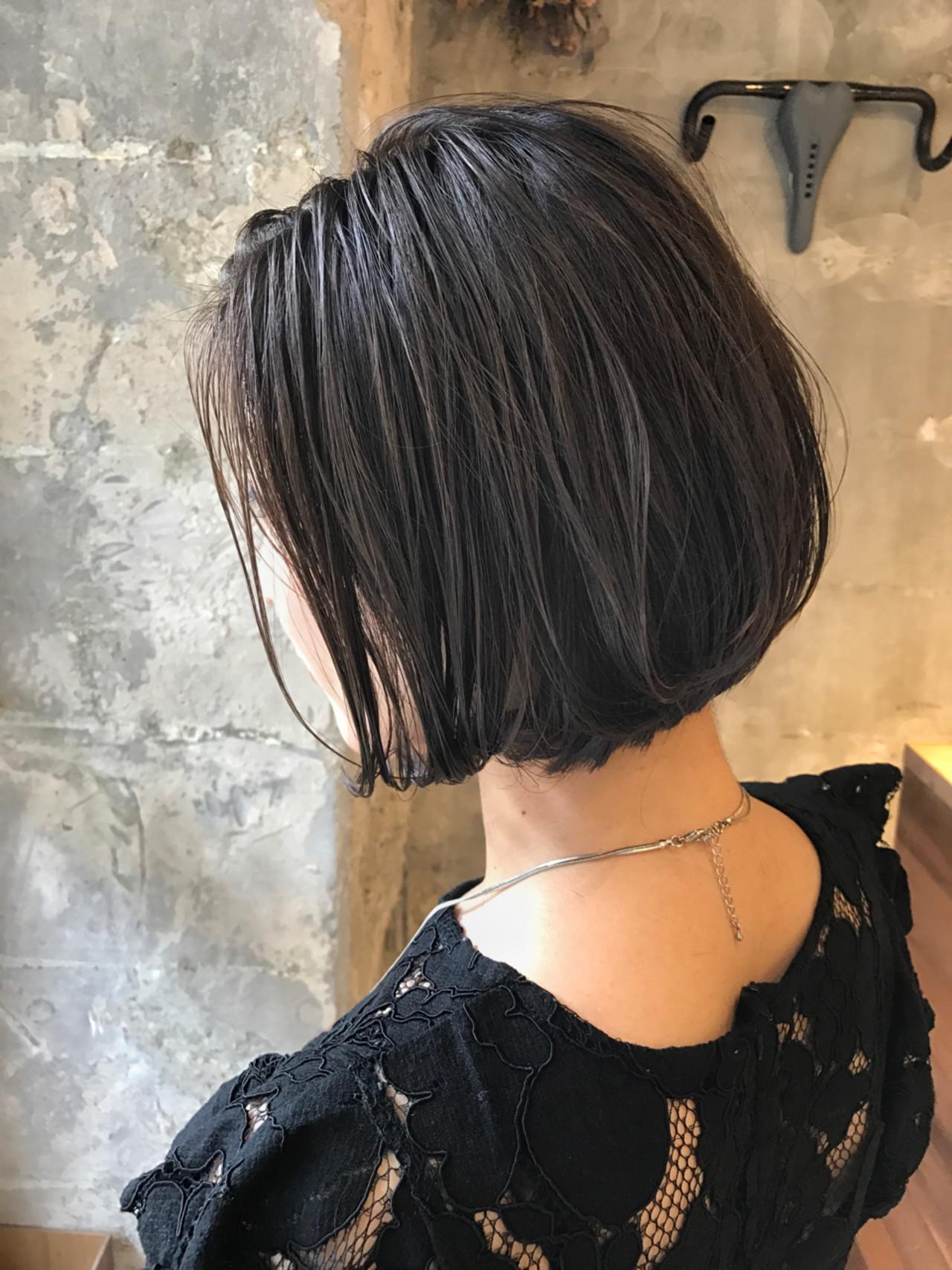 オフィス ナチュラル ボブ 梅雨 ヘアスタイルや髪型の写真・画像 | PEDAL / PEDAL