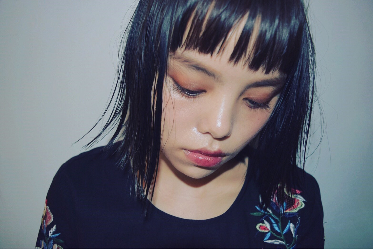 前髪あり 女子会 ハイライト 黒髪 ヘアスタイルや髪型の写真・画像   塩釜 勇人 / NEWTON