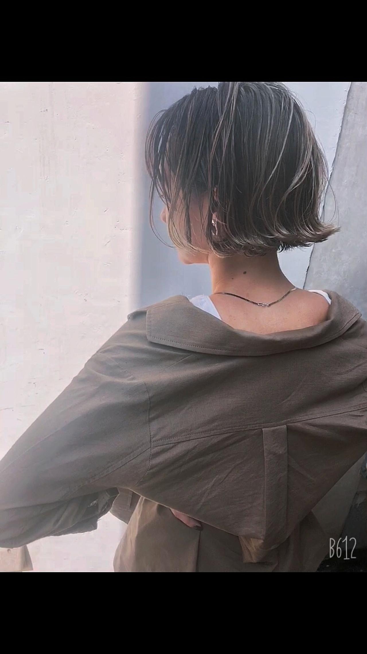 グレージュ ハイライト 外国人風カラー ナチュラル ヘアスタイルや髪型の写真・画像 | 高沼 達也 / byトルネード / トルネード