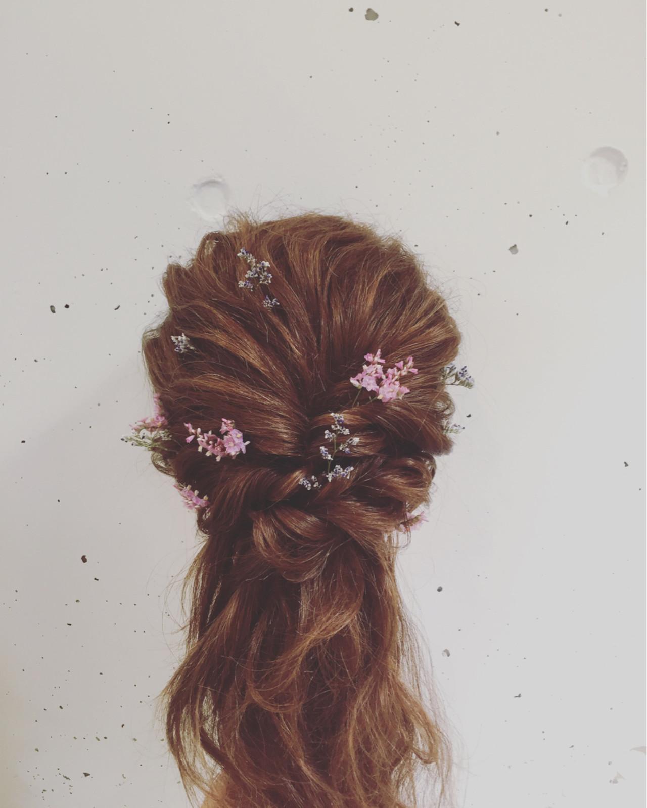 ゆるふわ ハーフアップ 簡単ヘアアレンジ フェミニン ヘアスタイルや髪型の写真・画像 | Mayumi Masumitsu / Arrange